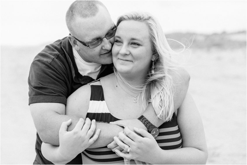 backbit wildlife refuge virginia beach sandbridge candid engagement portrait on the beach