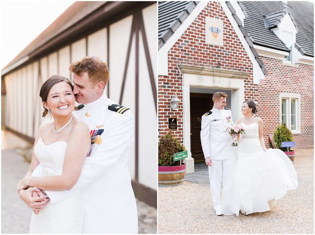 Williamsburg Winery wedding day, bride and groom candid embrace, Jessica Ryan Photography, Williamsburg, Virginia wedding photography