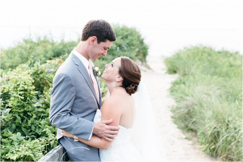 chesapeake bay virginia beach bride and groom portrait marina shores yacht club wedding