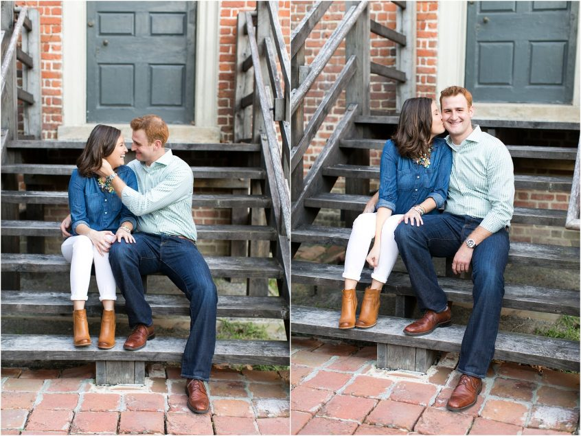 francis land house engagement portrait historical home virginia beach
