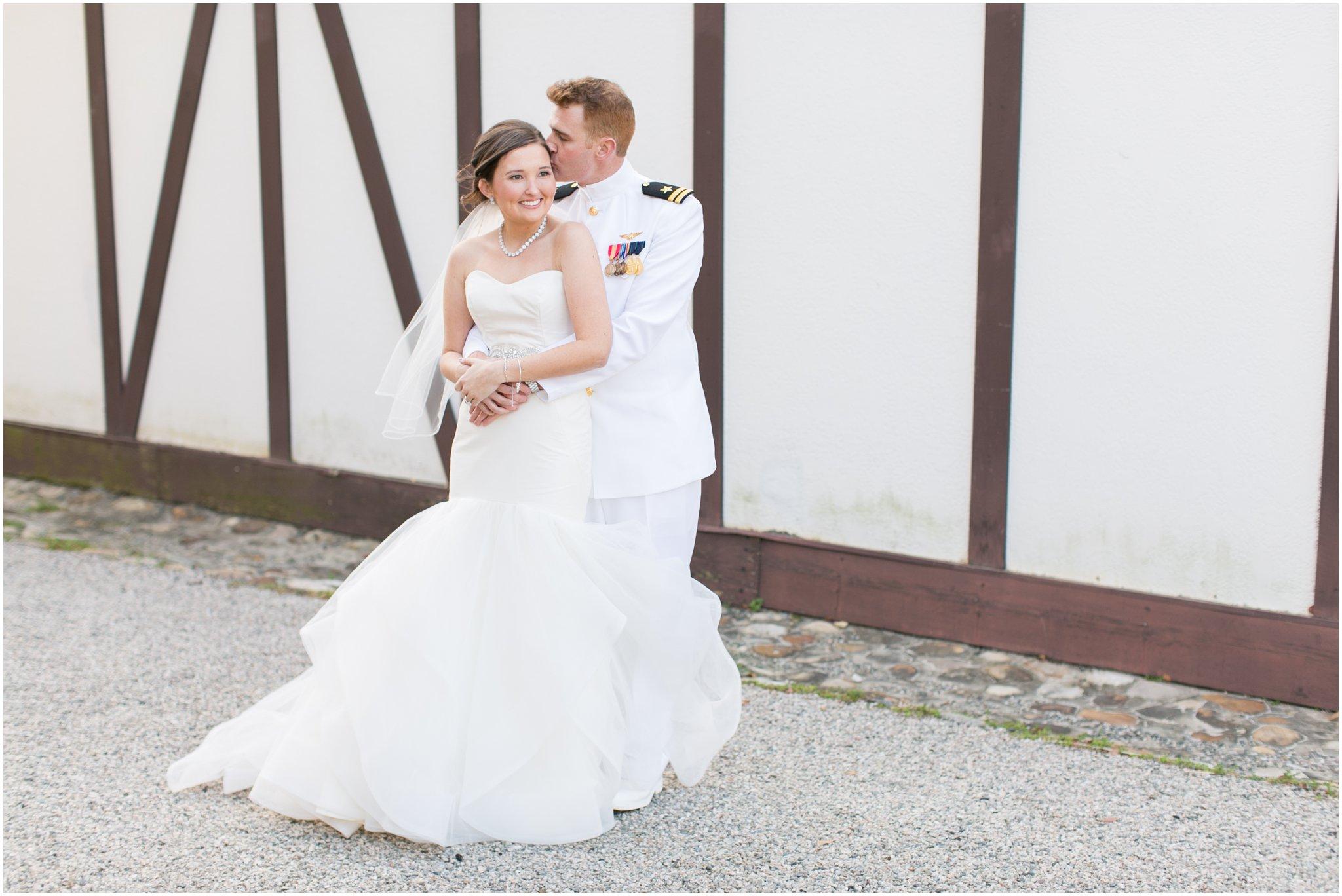 williamsburg winery wedding virginia bride and groom portrait
