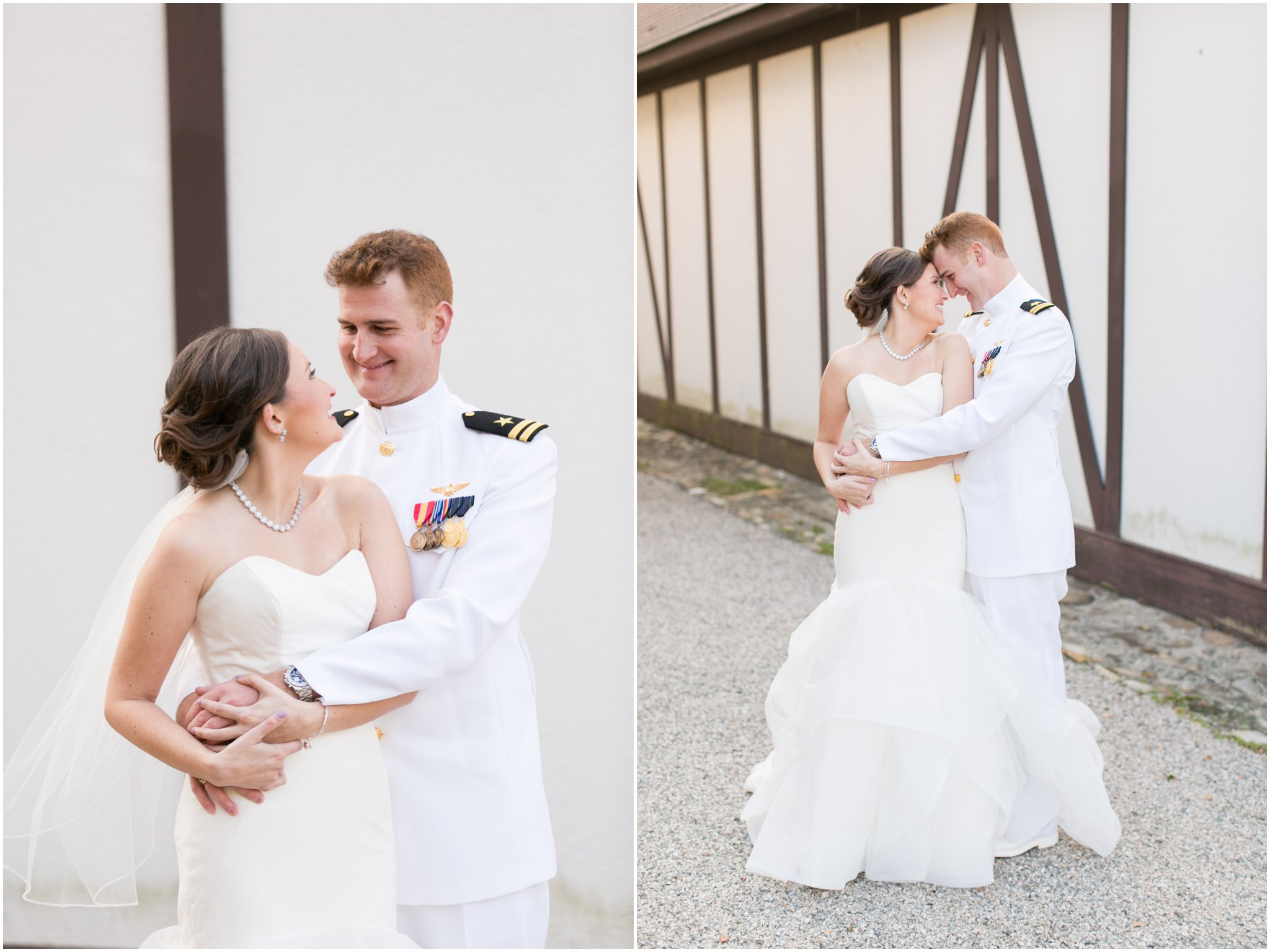 williamsburg winery wedding virginia bride and groom portrait United States Navy Groom