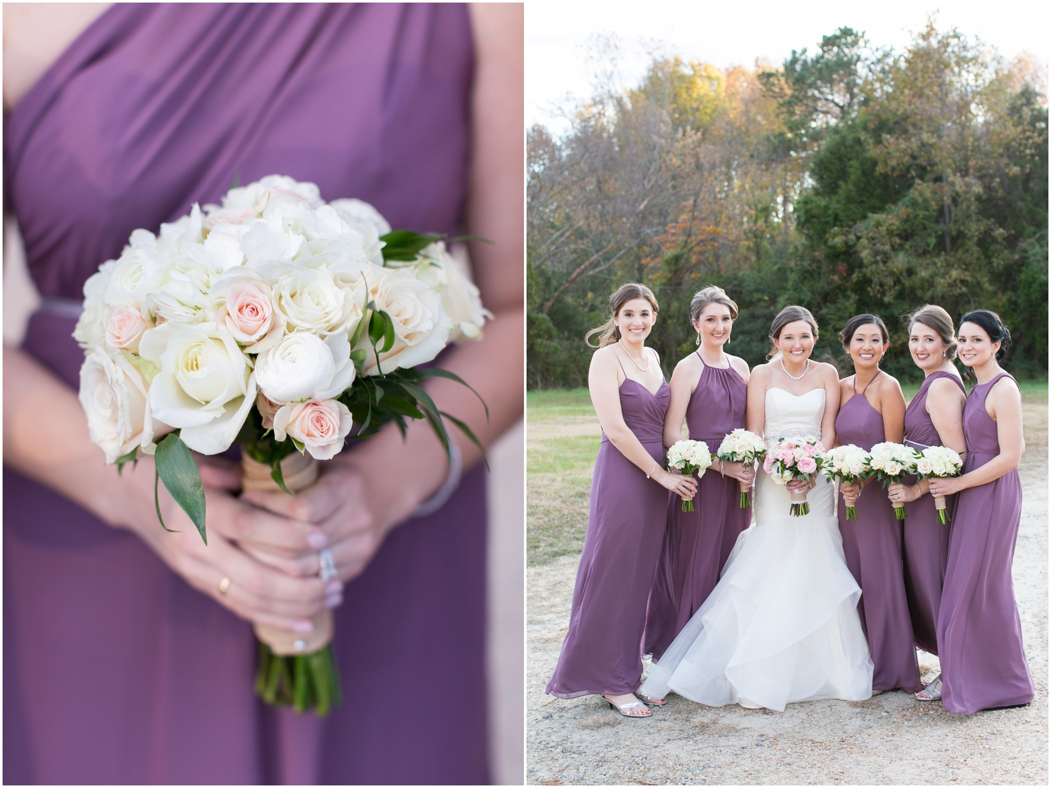 williamsburg winery wedding virginia bridesmaids portrait