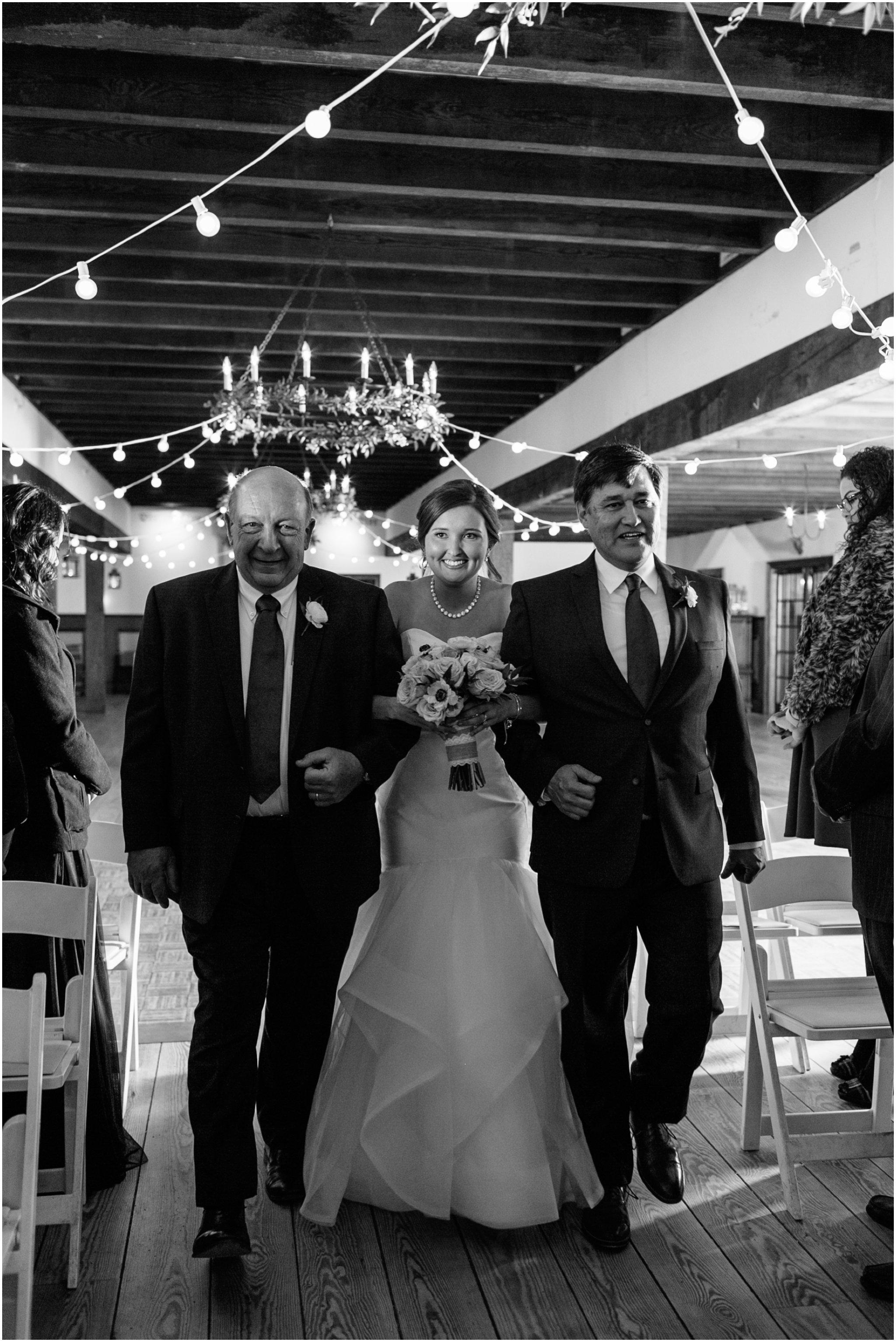 williamsburg winery wedding virginia bride and groom ceremony