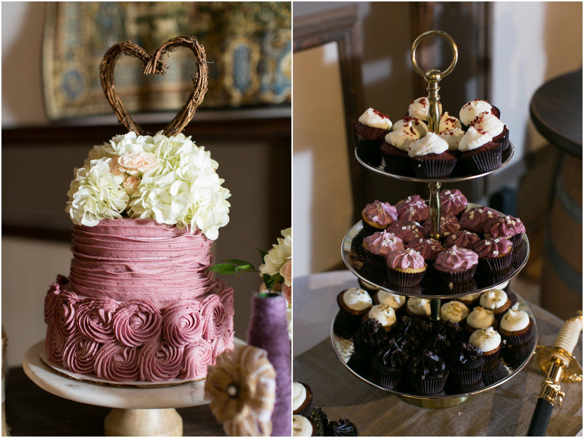 williamsburg winery wedding virginia reception detail wedding cake