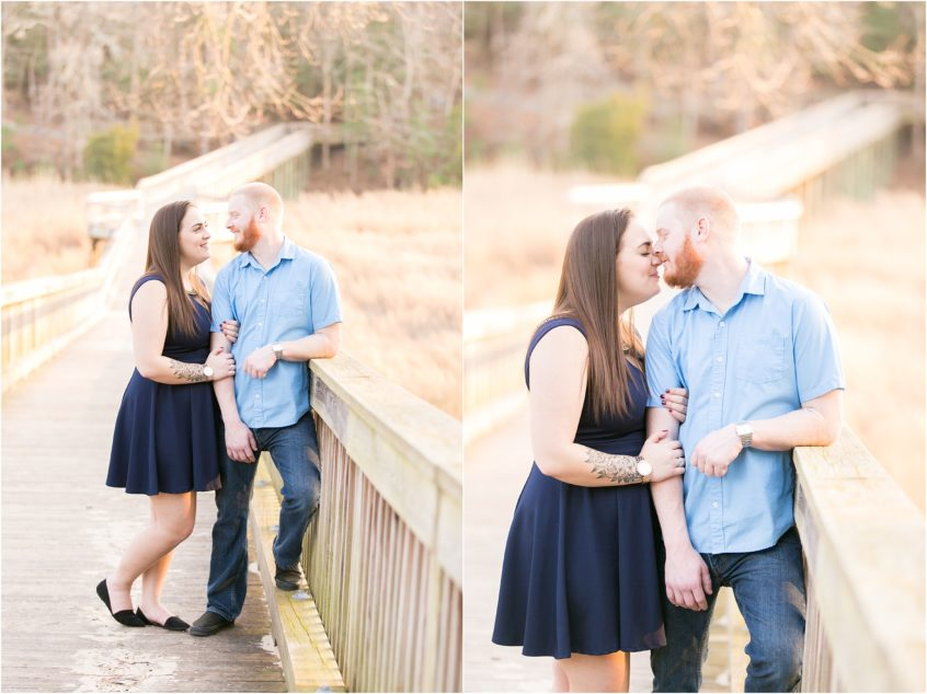 windsor castle park smithfield virginia engagement portrait bride and groom