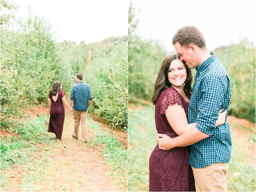 a bride's thoughts leading up to her wedding day carter mountain apple orchard engagement portrait