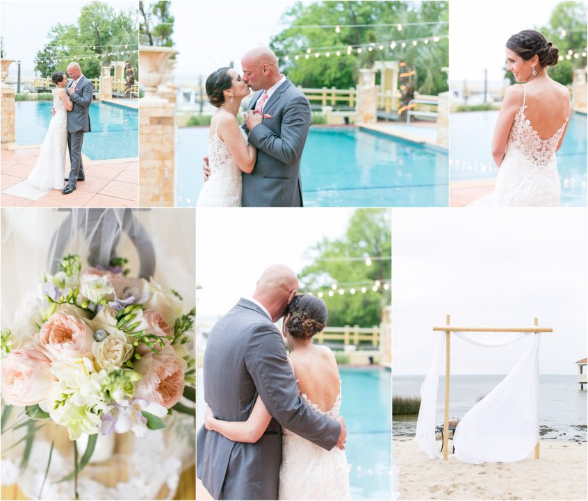 grande ritz palm wedding duck north carolina jessica ryan photography