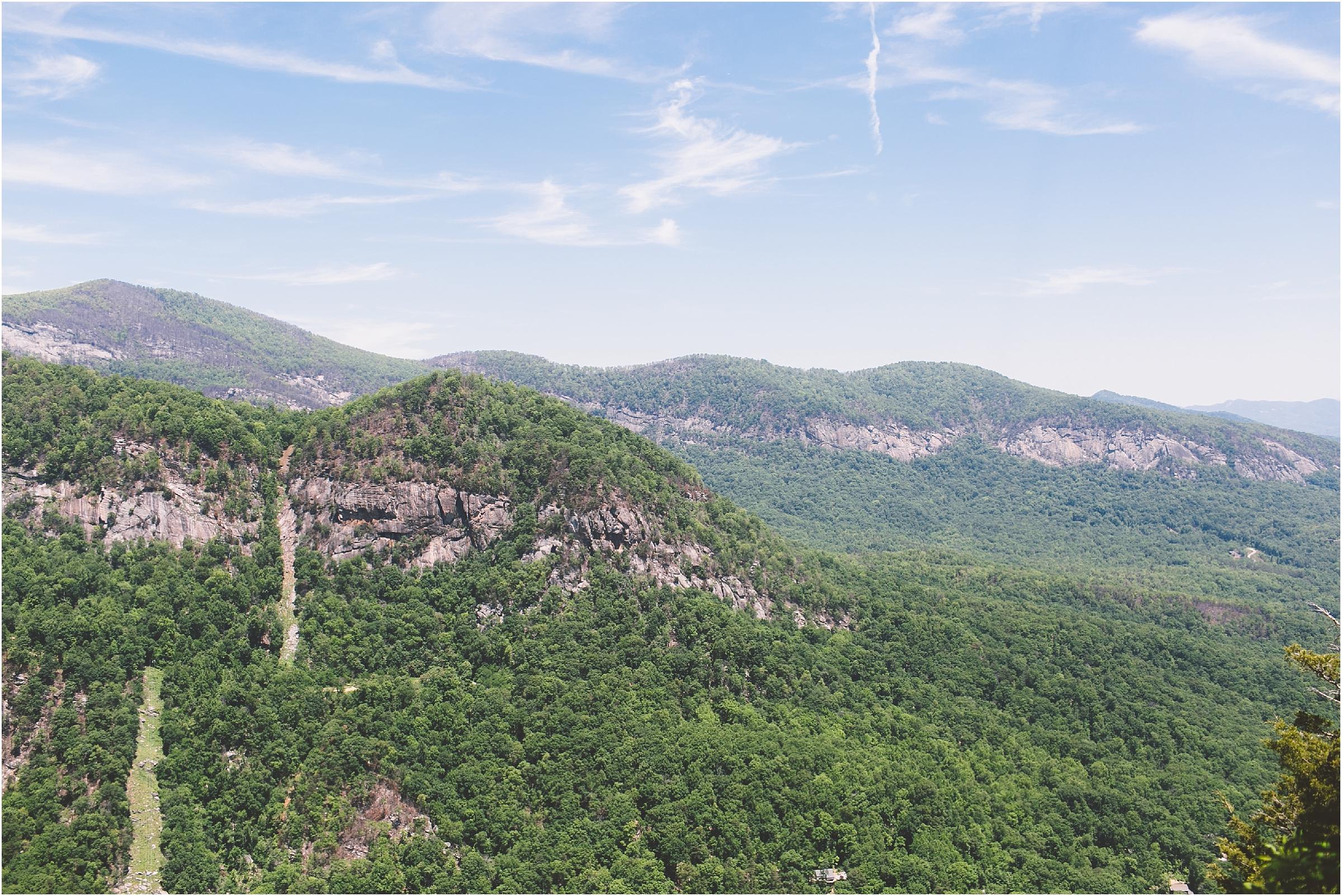 asheville honeymoon chimney rock