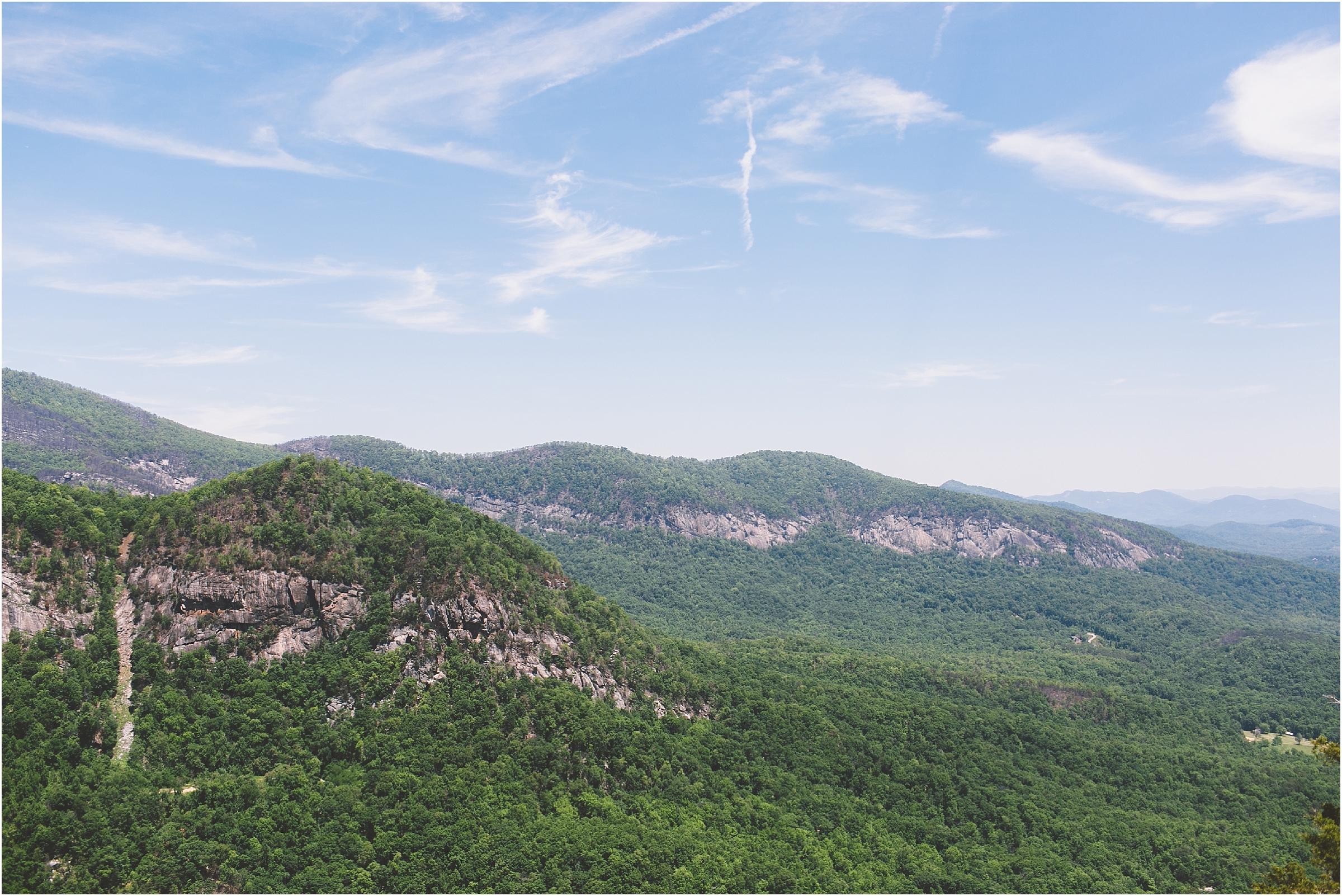 asheville honeymoon chimney rock trail