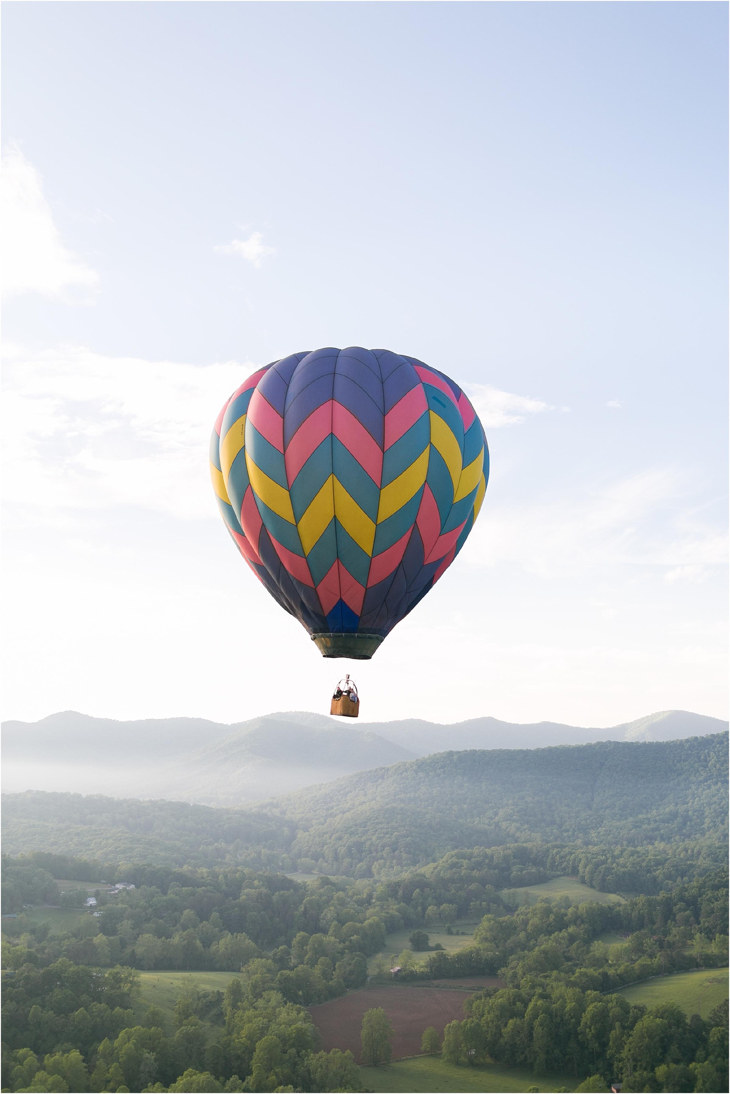 asheville north carolina honeymoon wedding photographer balloons over asheville hot air balloon ride