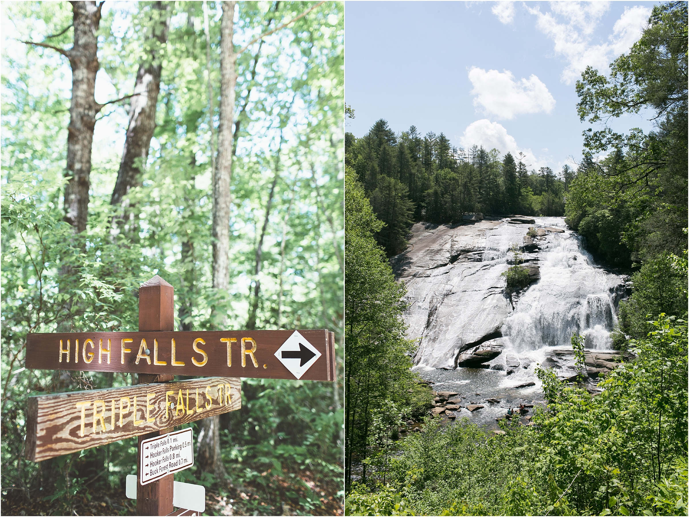asheville north carolina honeymoon wedding photographer high falls trail