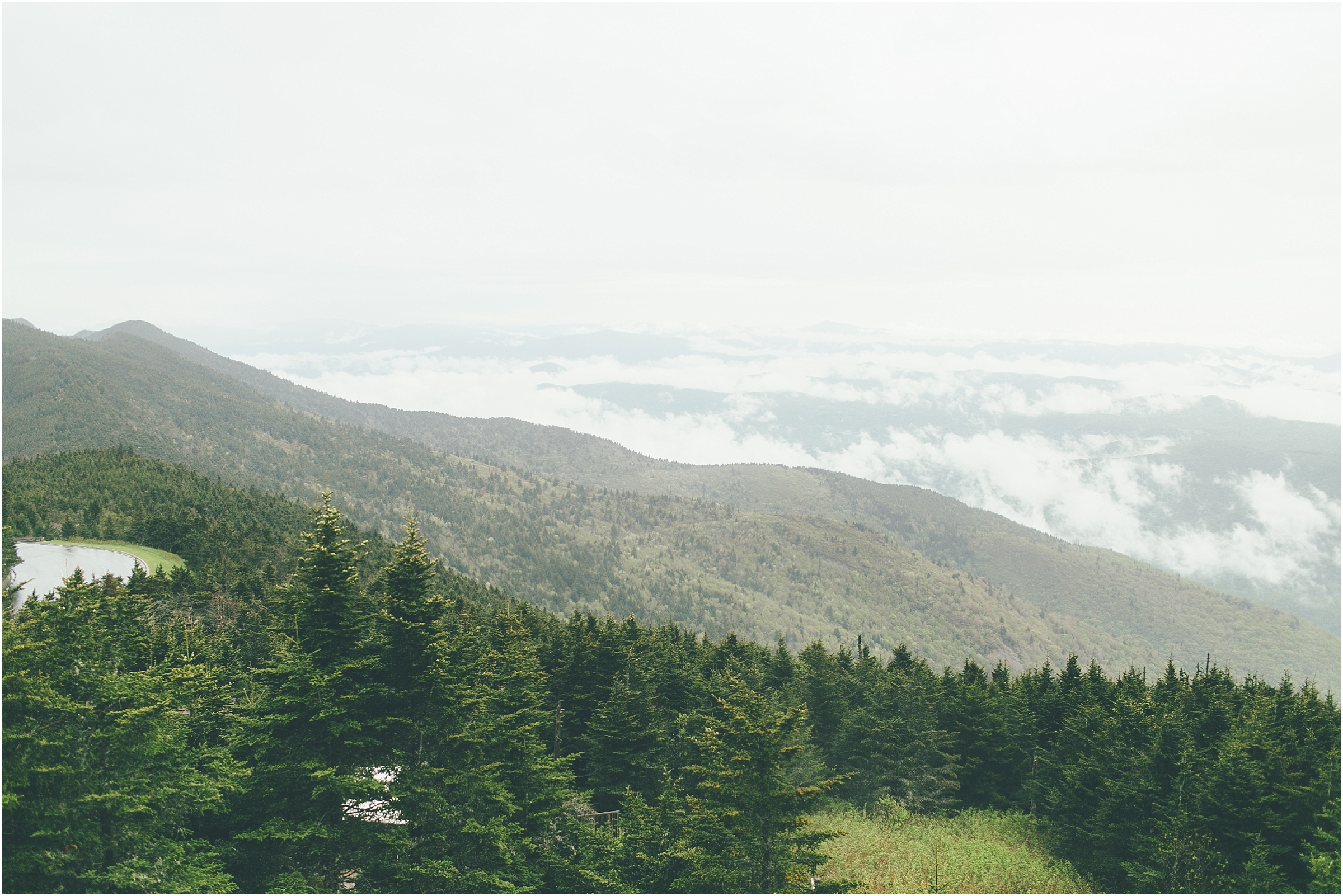 asheville north carolina honeymoon wedding photographer mount mitchell state park highest peak east of the Mississippi river