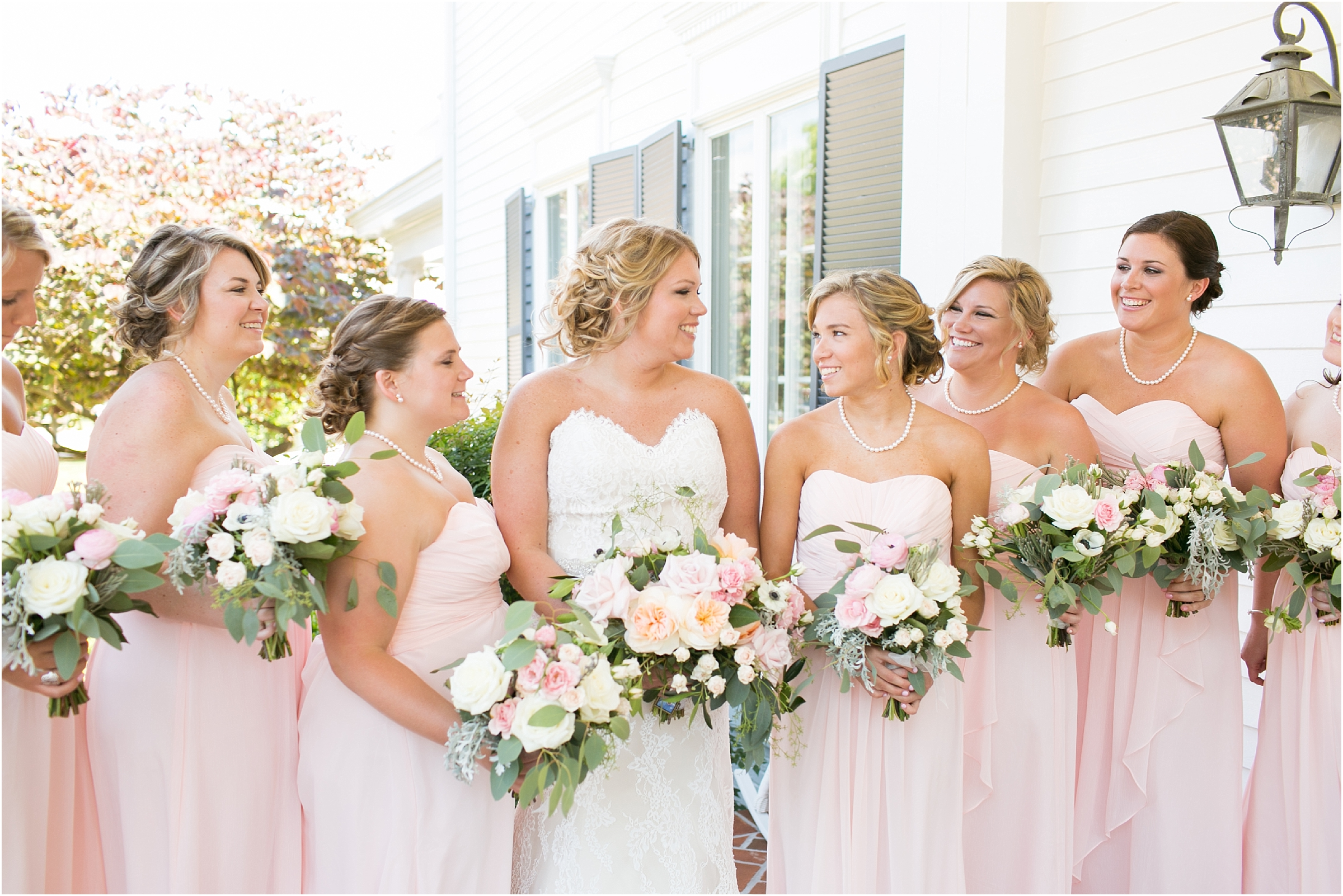 inn at warner hall wedding bride bridal party