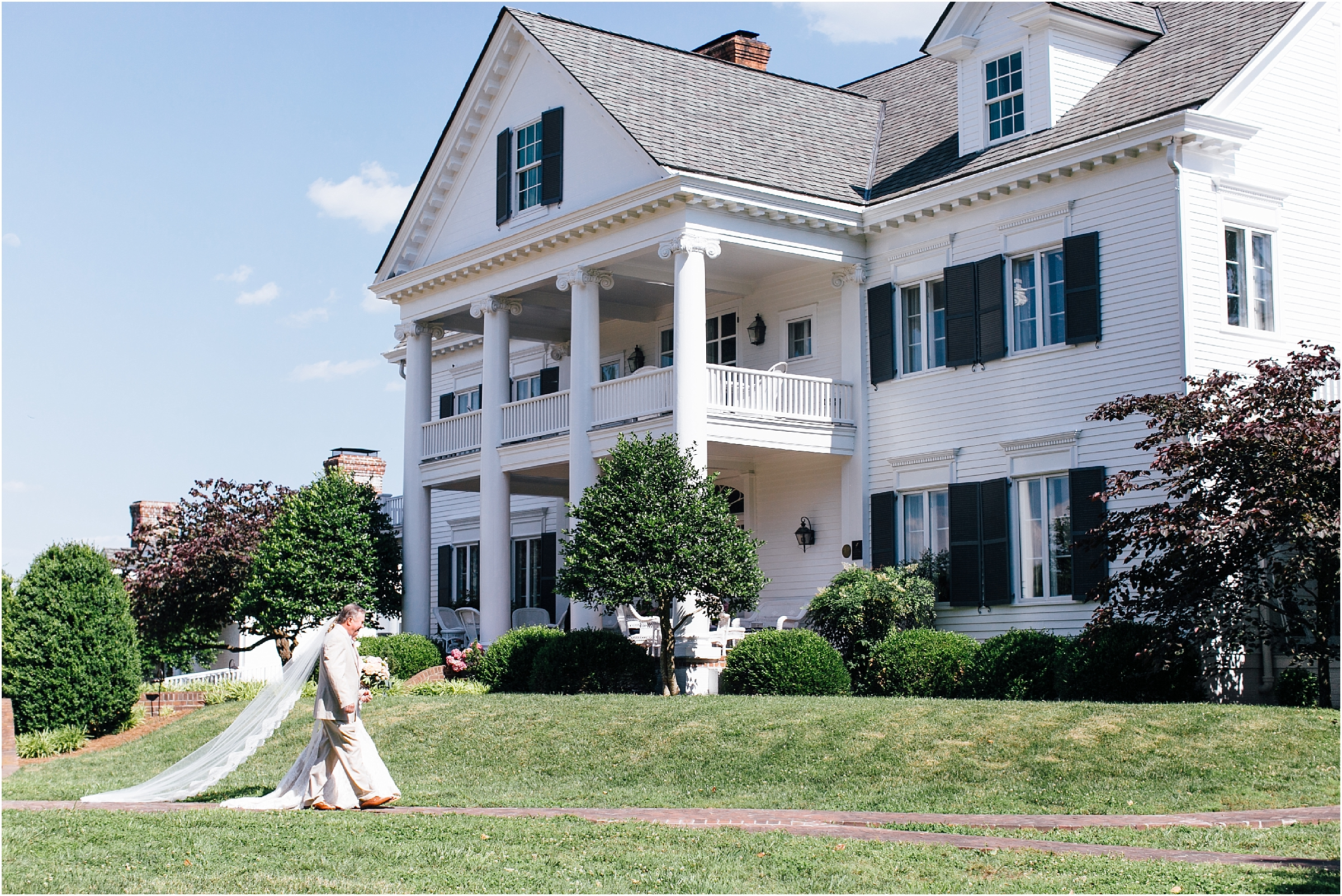 inn at warner hall wedding ceremony