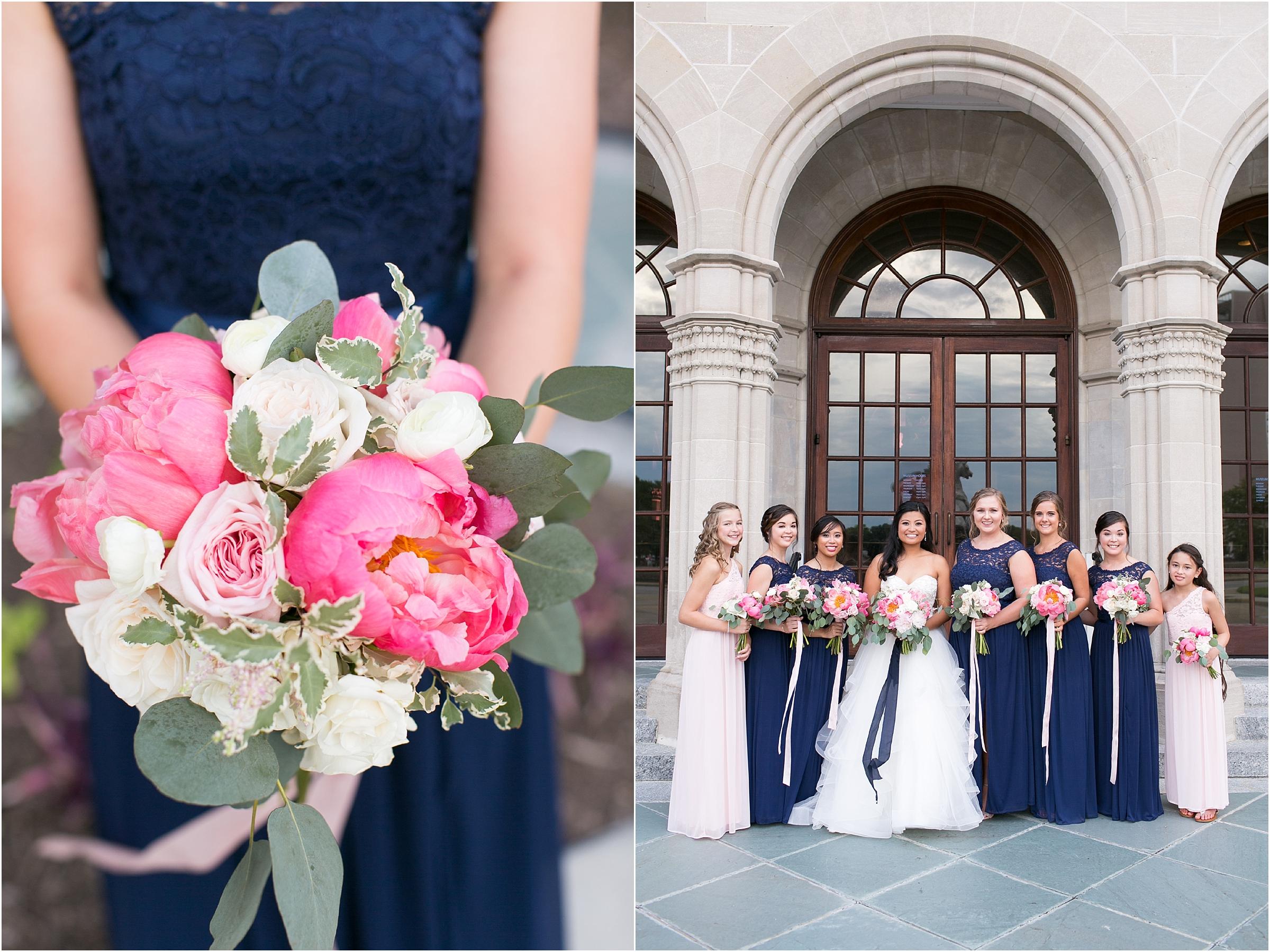 Chrysler Museum of Art grand elegant bridal party portrait courtney inghram events
