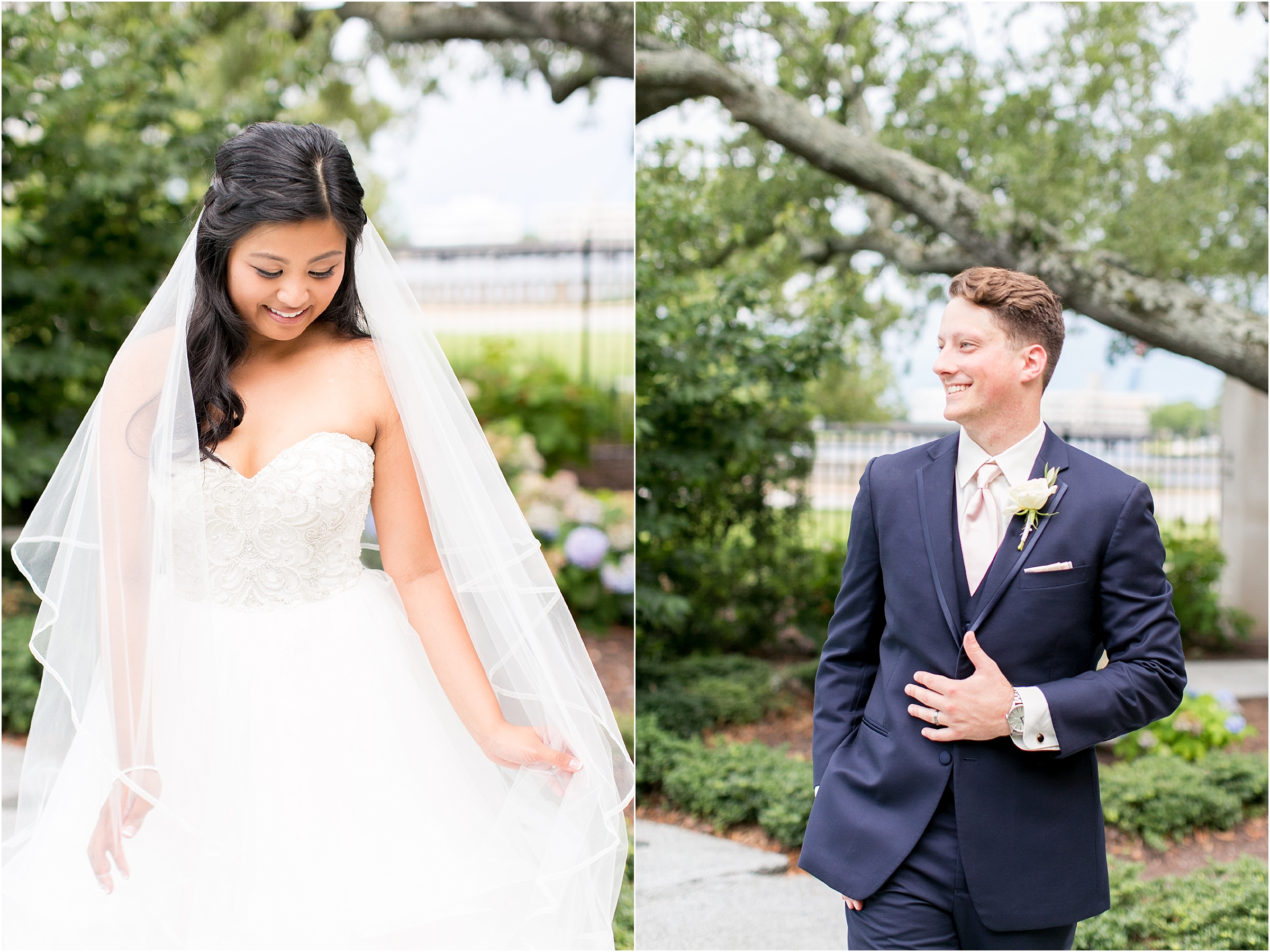 Chrysler Museum of Art elegant wedding bride and groom portrait jessica ryan photography