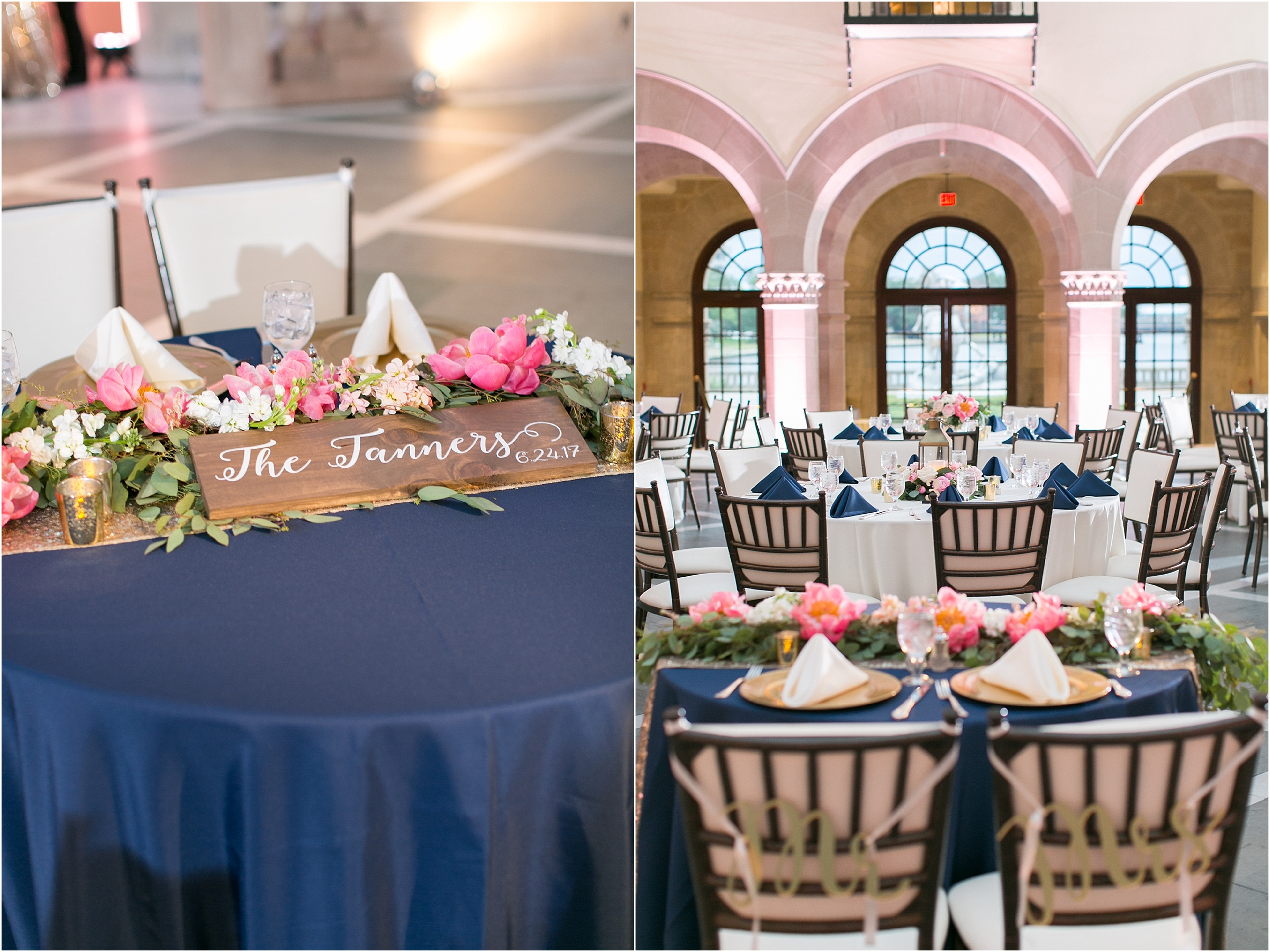 Chrysler Museum of Art elegant wedding reception jessica ryan photography courtney inghram events waterford event rentals