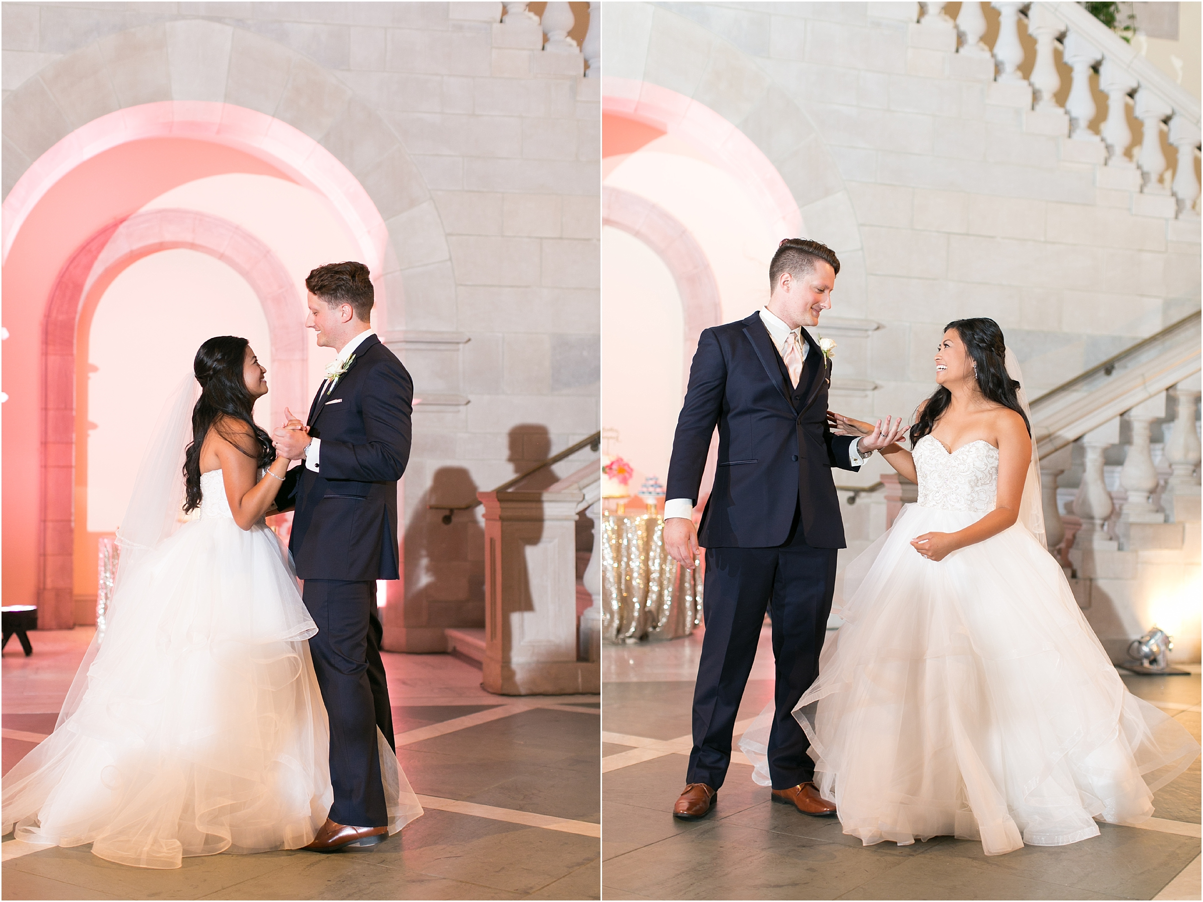 Chrysler Museum of Art elegant wedding reception jessica ryan photography
