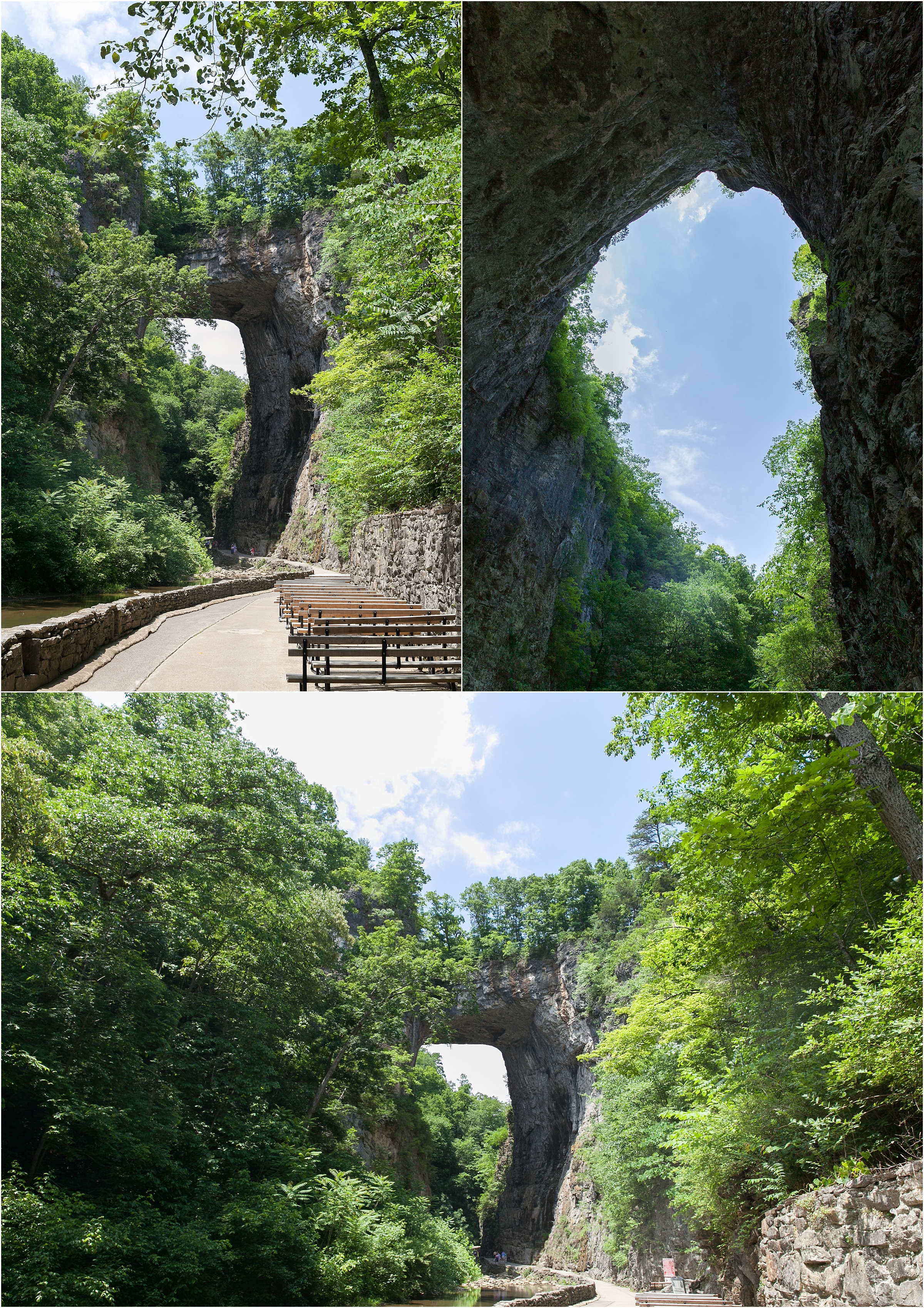 natural bridge in virginia wedding destination photographer