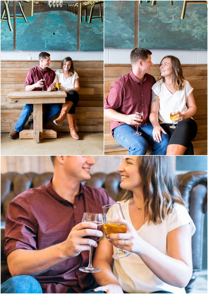 commonwealth brewing company engagement photography, first landing state park engagement photography jessica ryan photography, jessica ryan photographer virginia beach engagement photography, couple jumped in the water