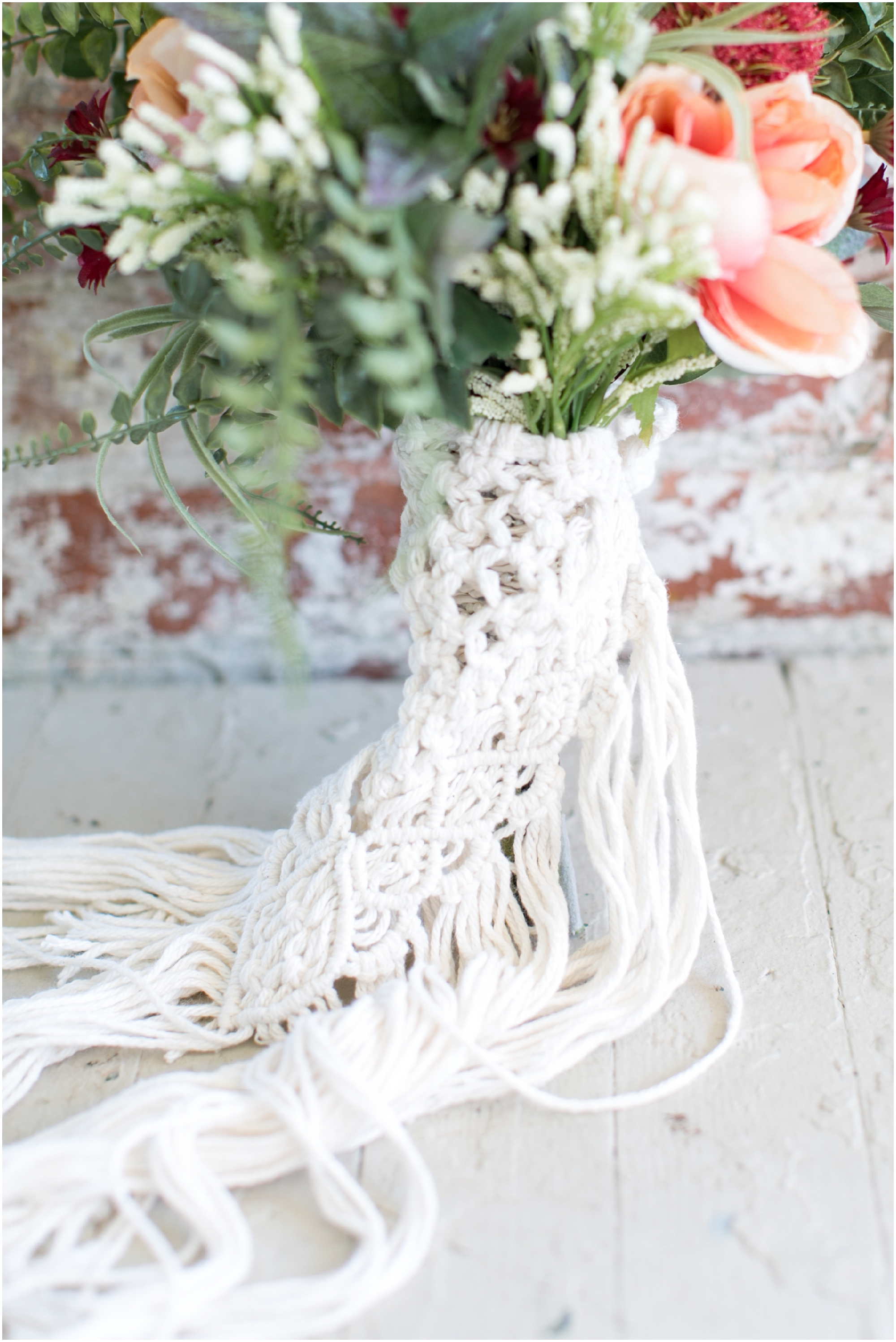 boho wedding at The Tar Roof virginia beach wedding photography boho bride and decorations