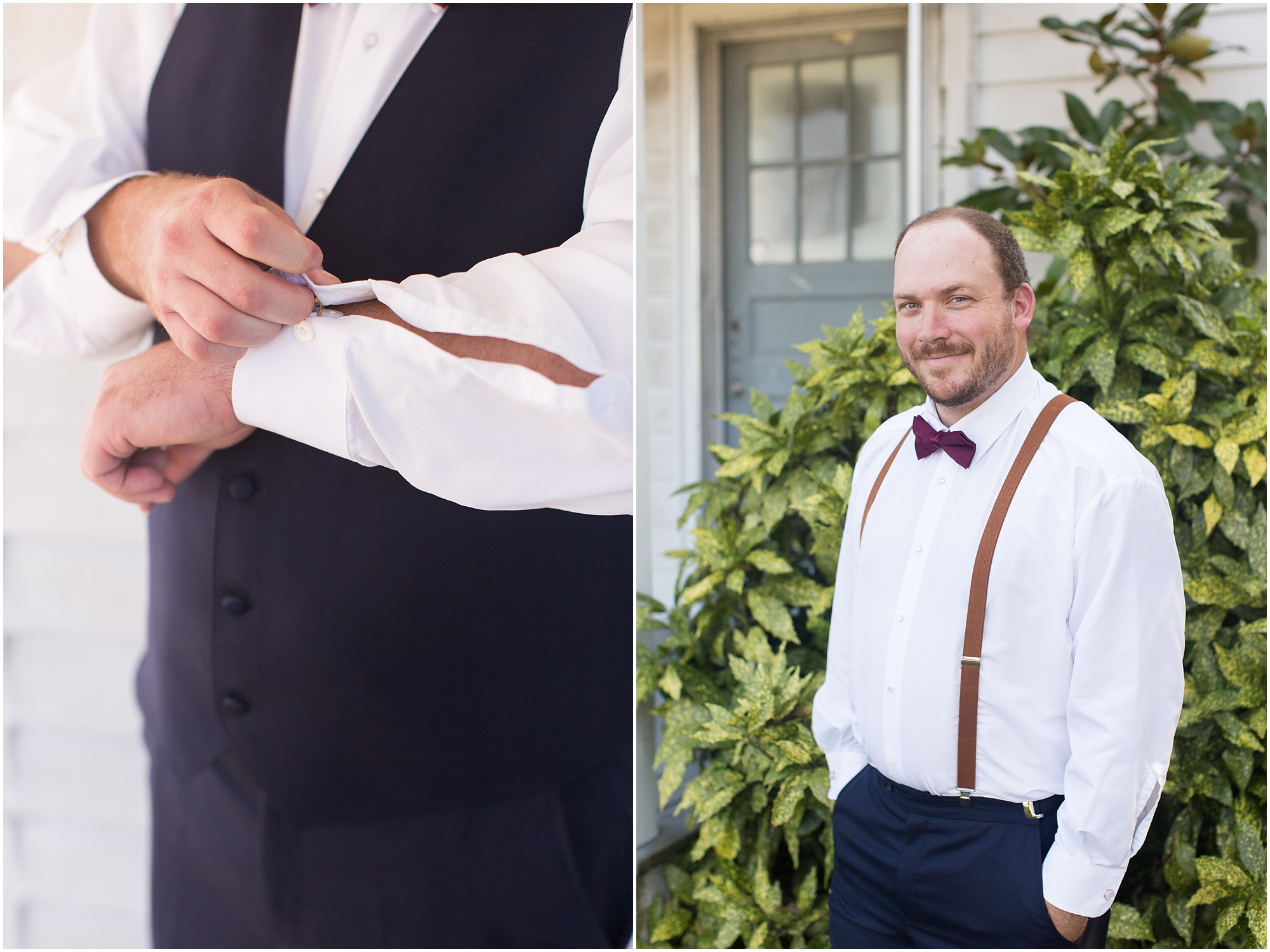 groom getting ready boho wedding at The Tar Roof virginia beach wedding photography jessica ryan photography