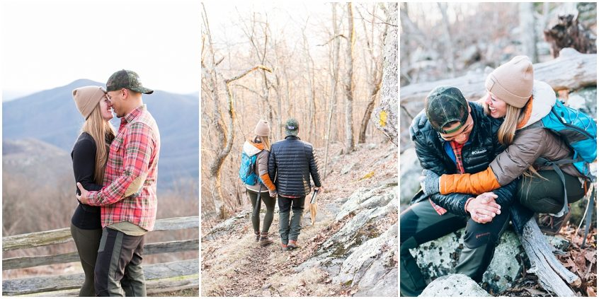 hiking in the mountains couple photography wintergreen resort couple hiking photography jessica ryan photography