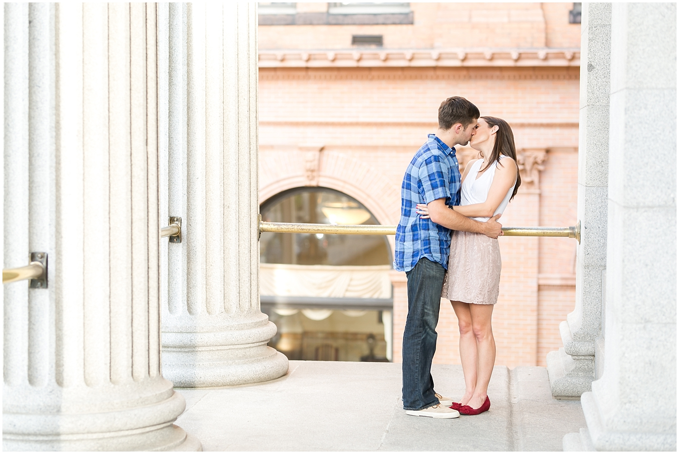 downtown norfolk virginia engagement photography