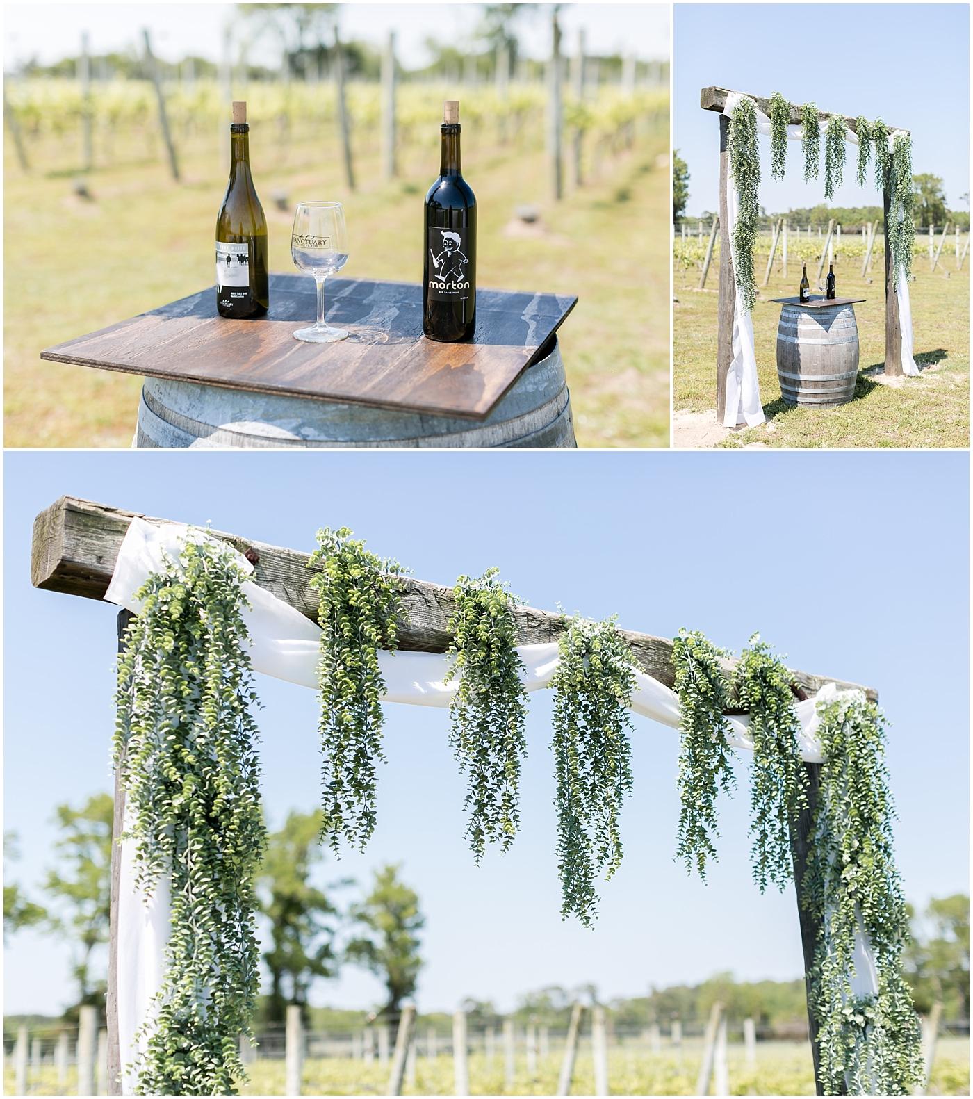 sanctuary vineyards wedding jessica ryan photography, winery wedding ceremony