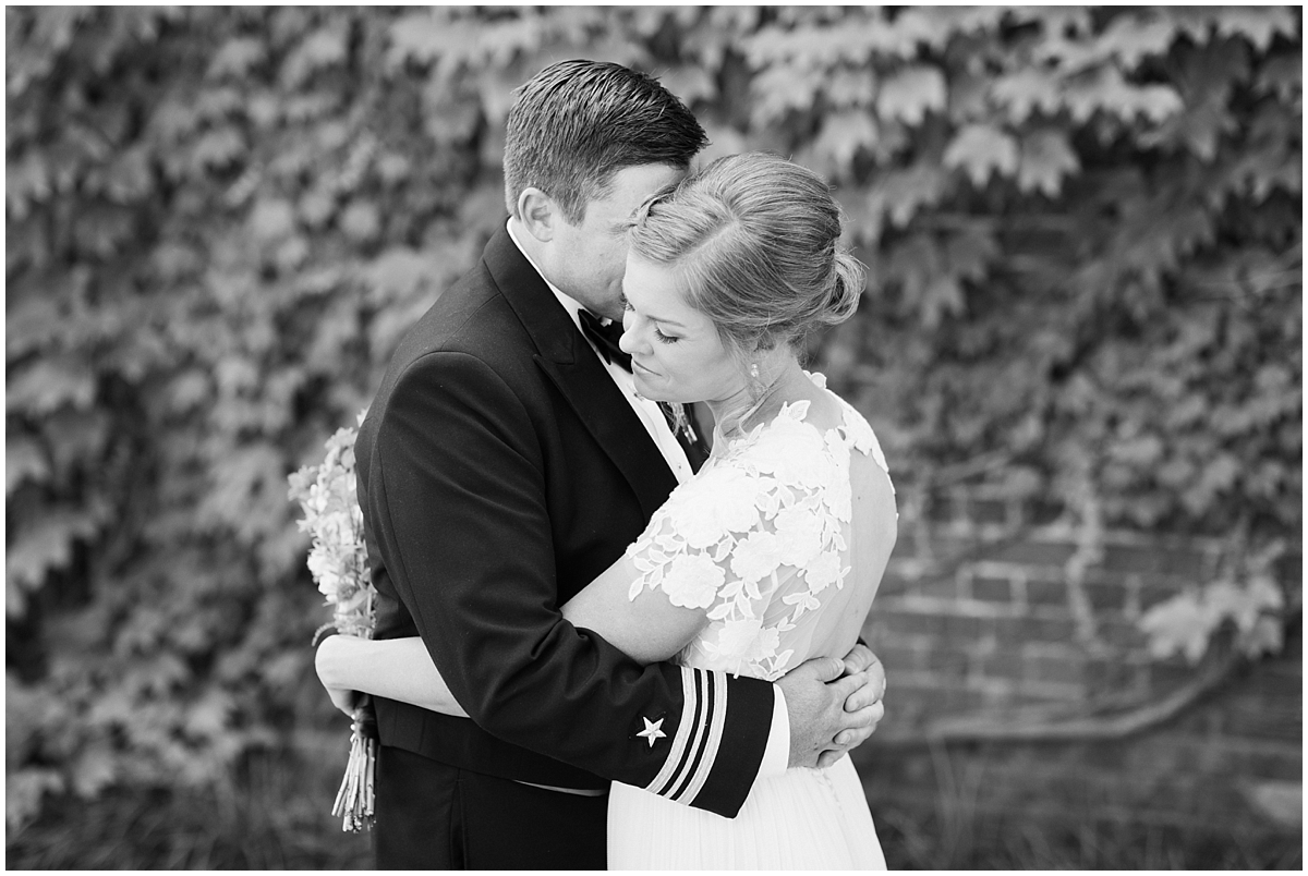 bride and groom first look wedding at the hermitage museum and gardens