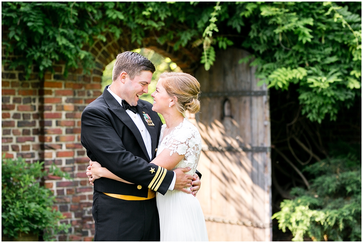 garden wedding at the hermitage museum and gardens bride and groom photography