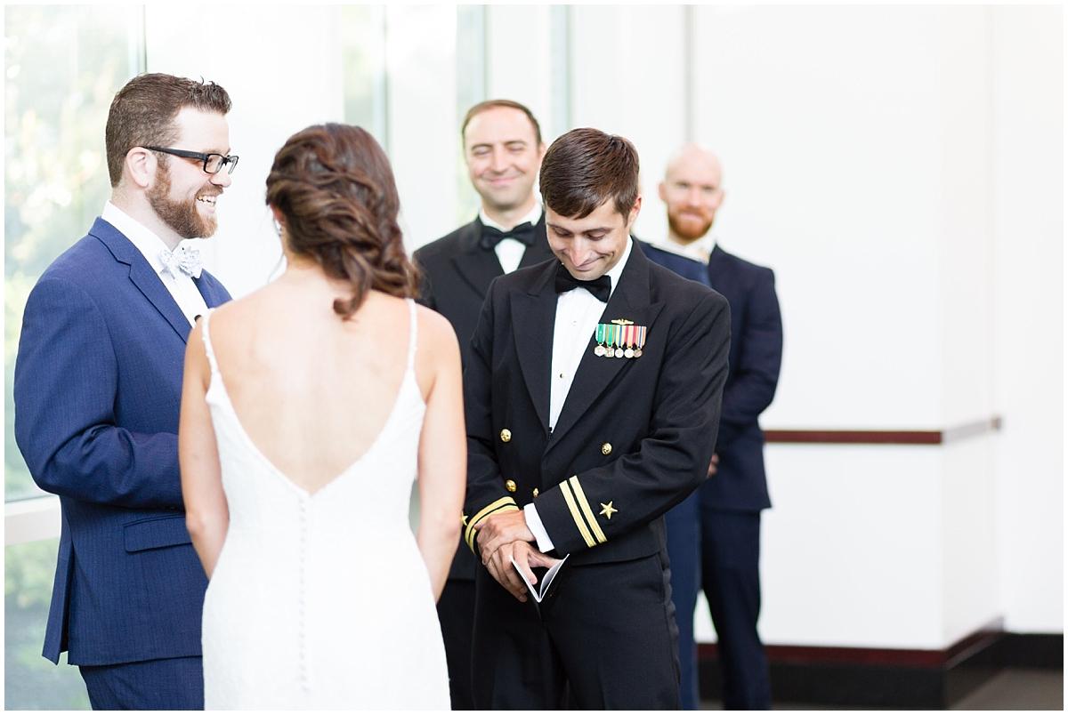 musuem of contemporary art wedding, MOCA wedding, virginia beach wedding ceremony