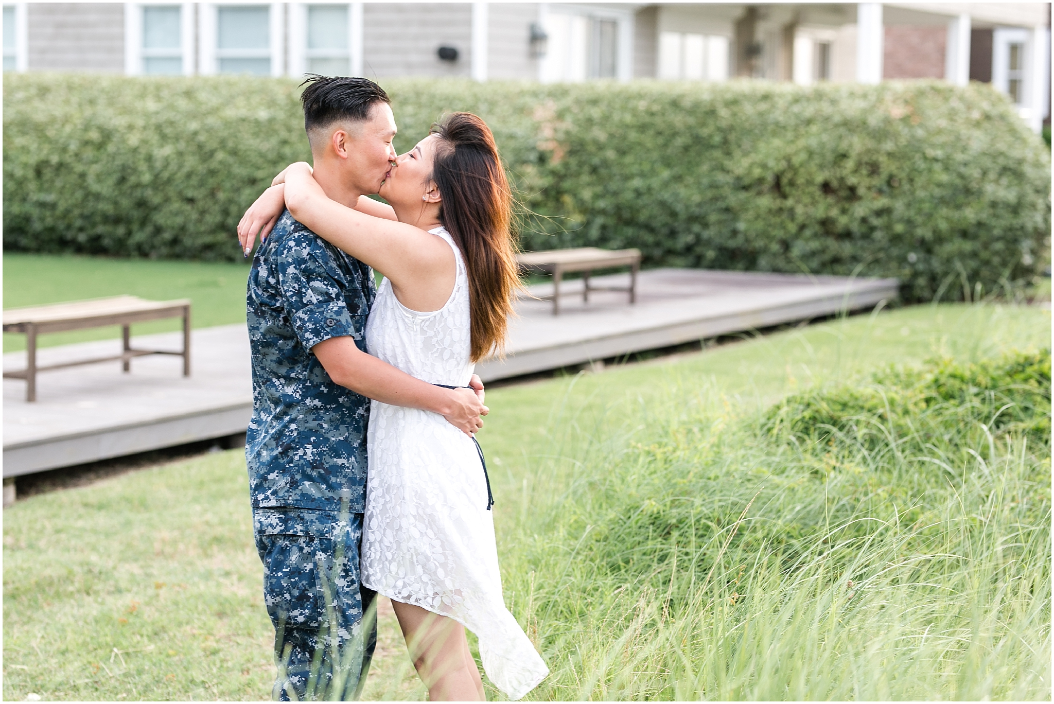 east beach norfolk engagement, engaged couple, chesapeake bay engagements