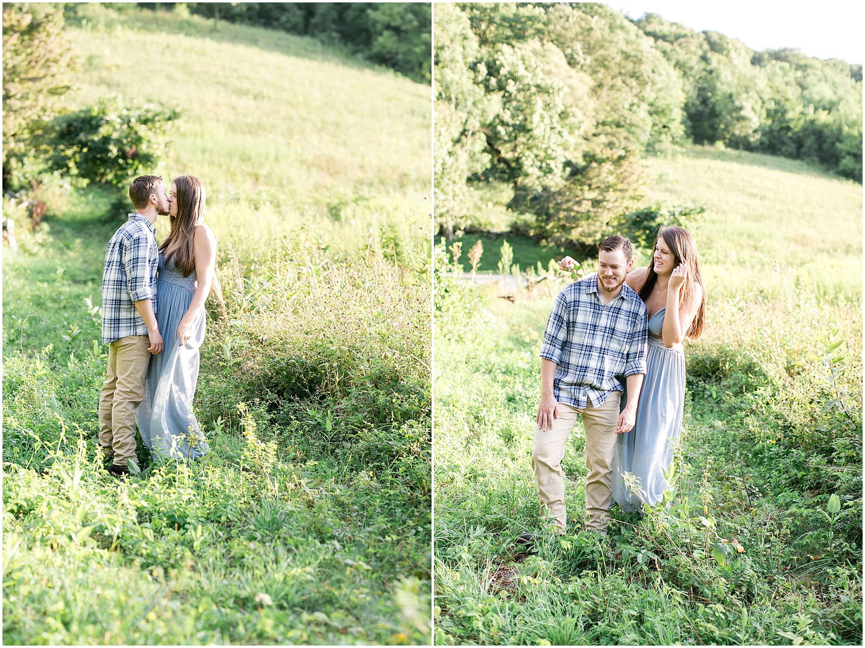 blue ridge parkway engagement photography ravens roost overlook engagement