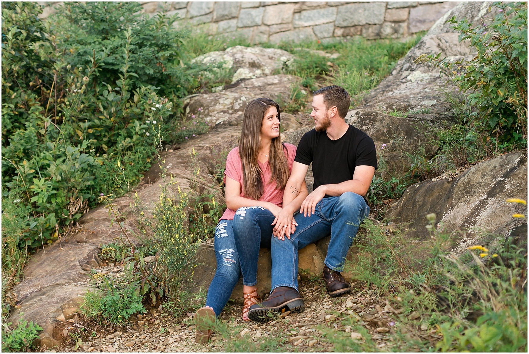 blue ridge parkway engagement photography ravens roost overlook engagement Jessica Ryan photography