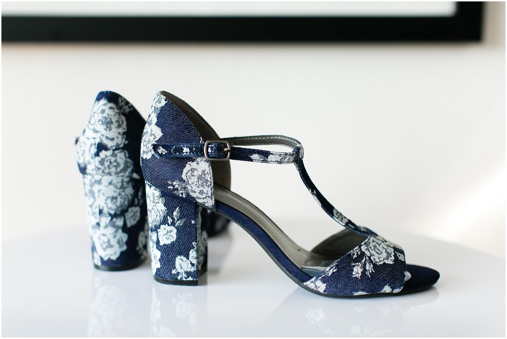 Mariner's Museum Wedding, bridal shoes