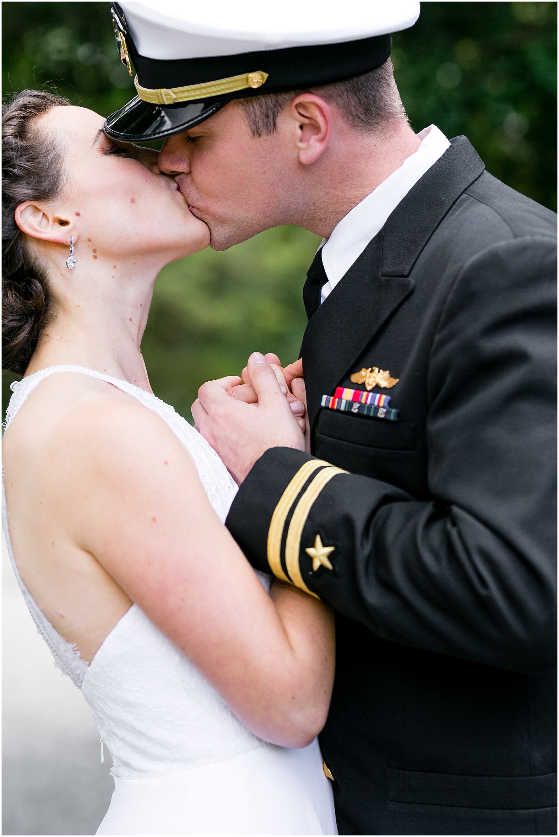 afternoon wedding at the Mariner's Museum Wedding, bride and groom candid and romantic portrait
