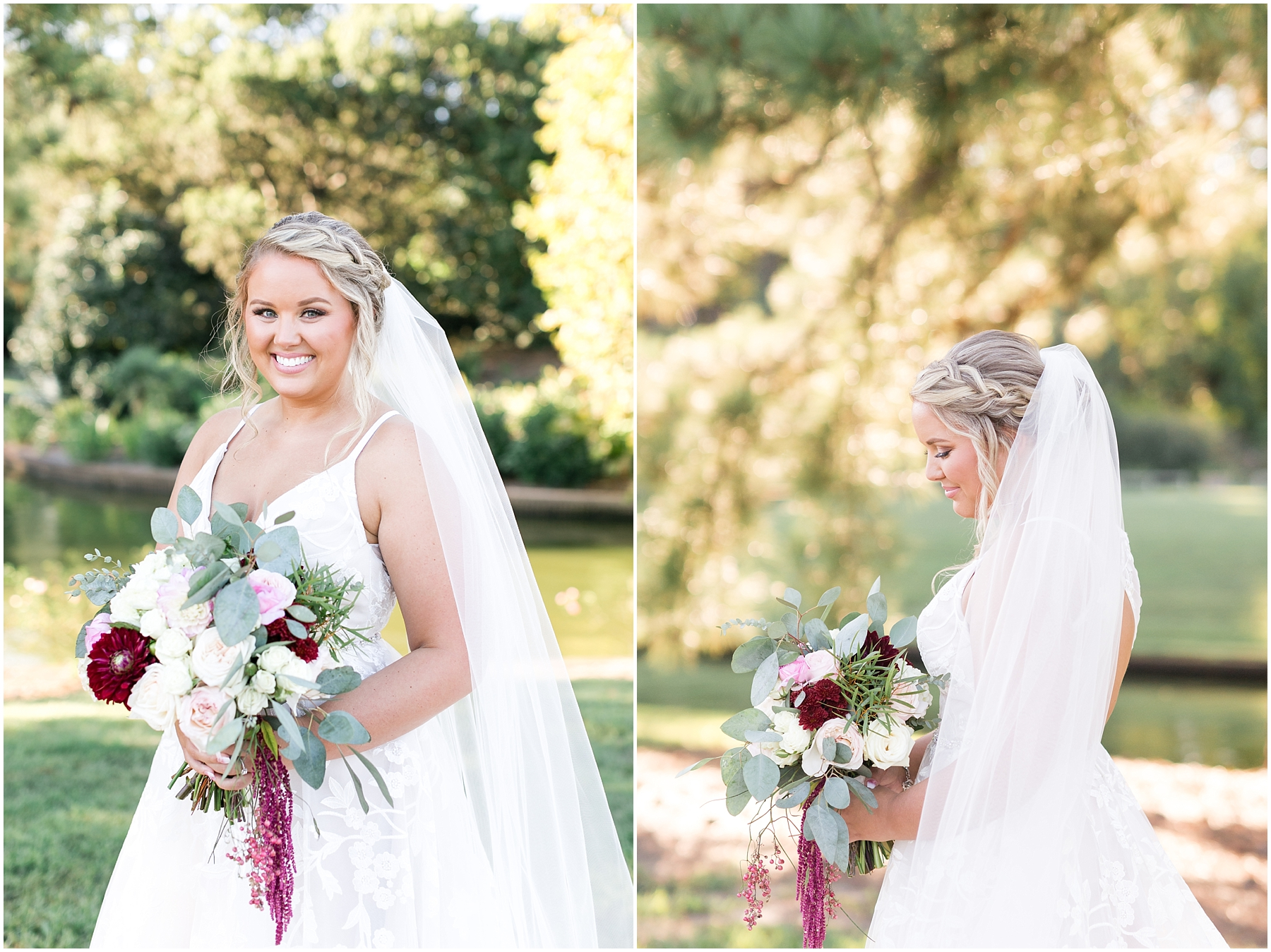 bridal party portraits at norfolk botanical gardens wedding day, jessica ryan photography, fluttering flowers, blush by hayley paige, flawless onsite, blushtones