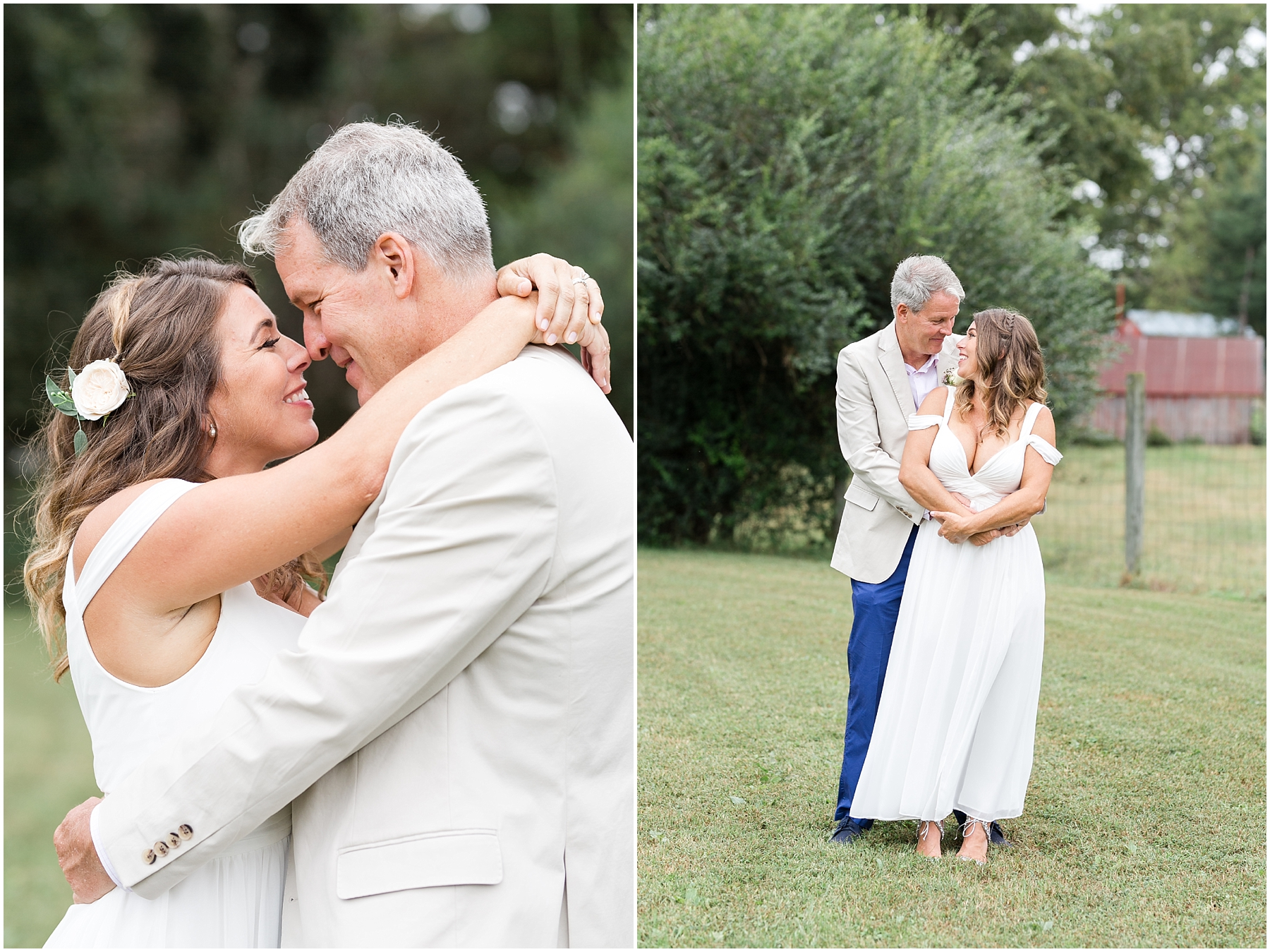 richmond backyard wedding, bride and groom candid portraits