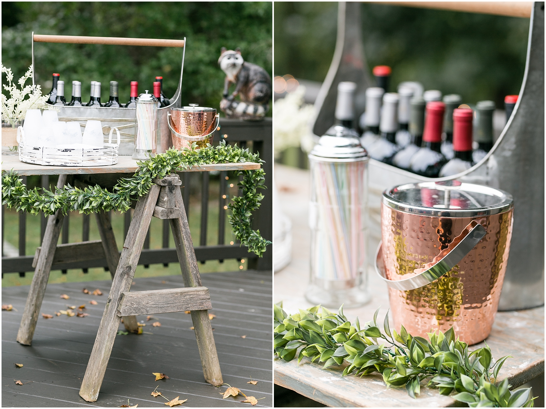richmond casual backyard wedding reception