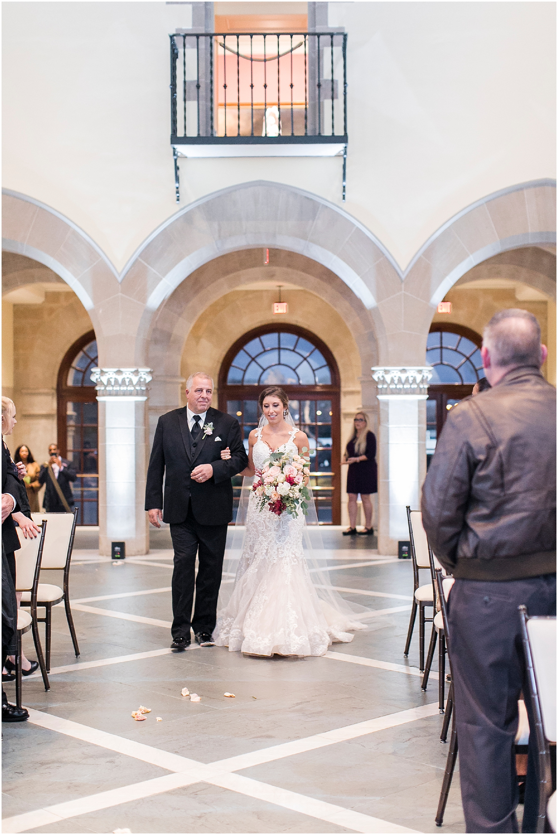 wedding ceremony at chrysler museum wedding, norfolk, virginia, fall wedding