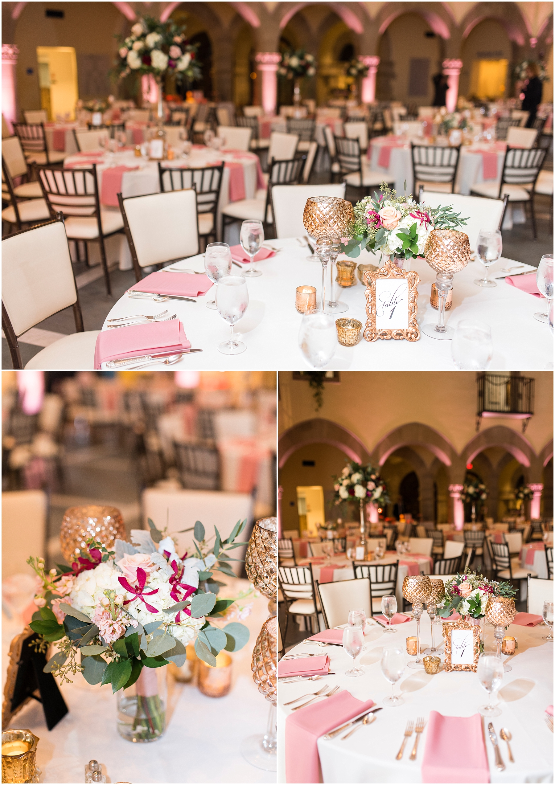 wedding reception at chrysler museum wedding, norfolk, virginia, fall wedding, baxter creative events, palette of petals