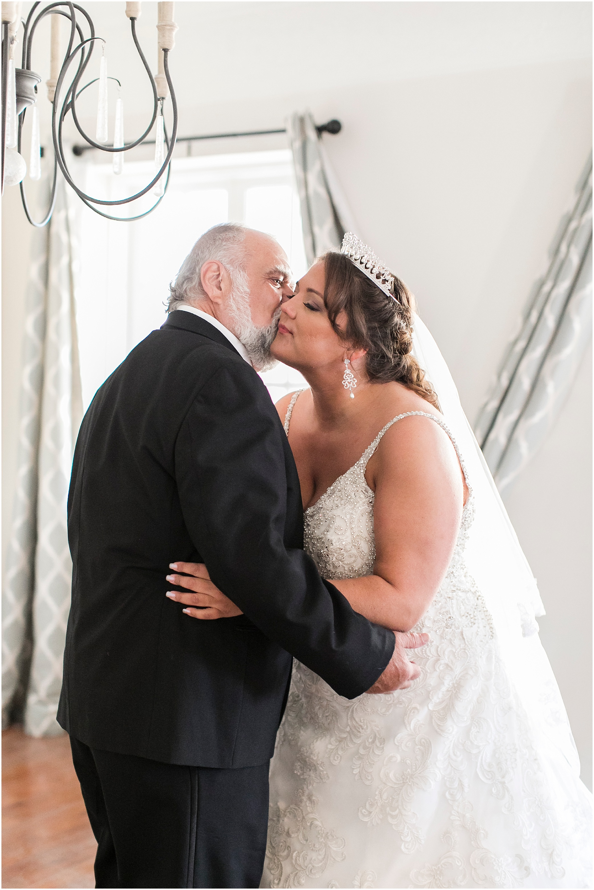 crystal clear event wedding giveaway, historic post office wedding, Waterford event rentals, first look with dad