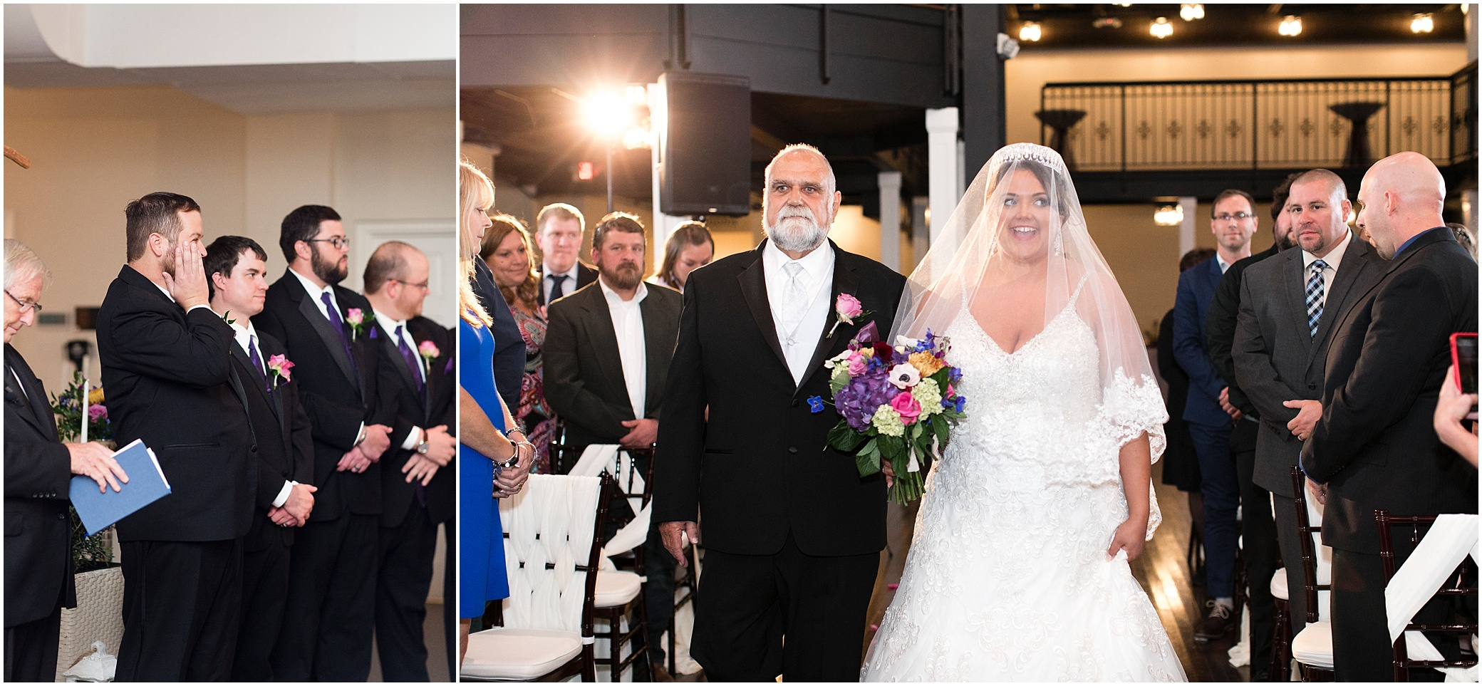 evening wedding ceremony, crystal clear event wedding giveaway, historic post office wedding, Waterford event rentals
