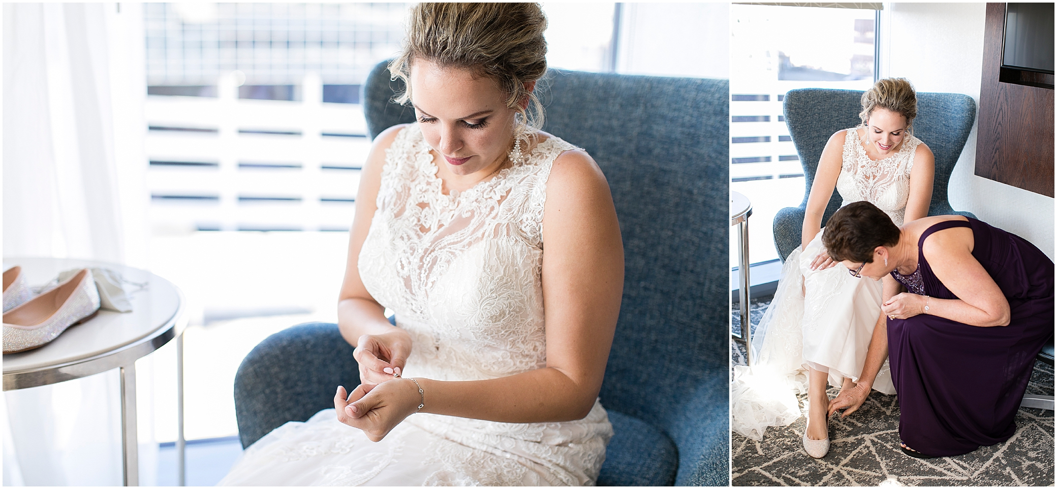 the woman's club of Portsmouth wedding in the fall, bridal getting ready at the main Norfolk