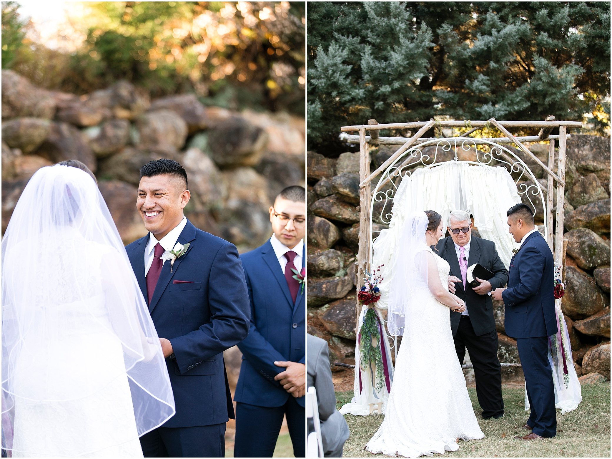 Larkin's Sawmill wedding in Greenville, South Carolina, outdoor wedding ceremony