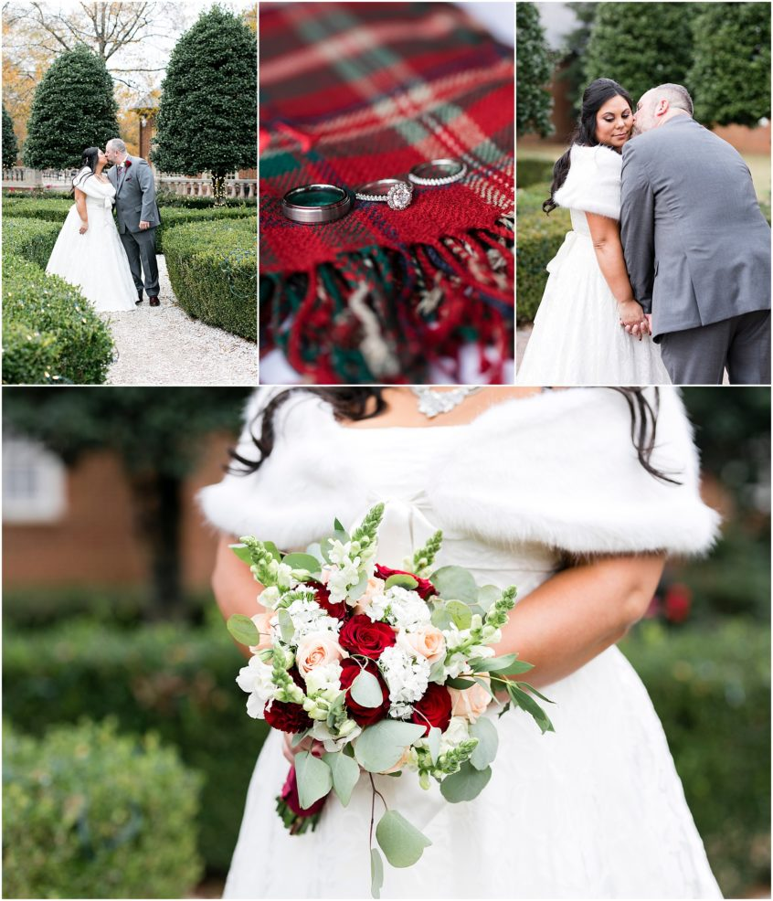 founders inn holiday wedding, Christmas wedding