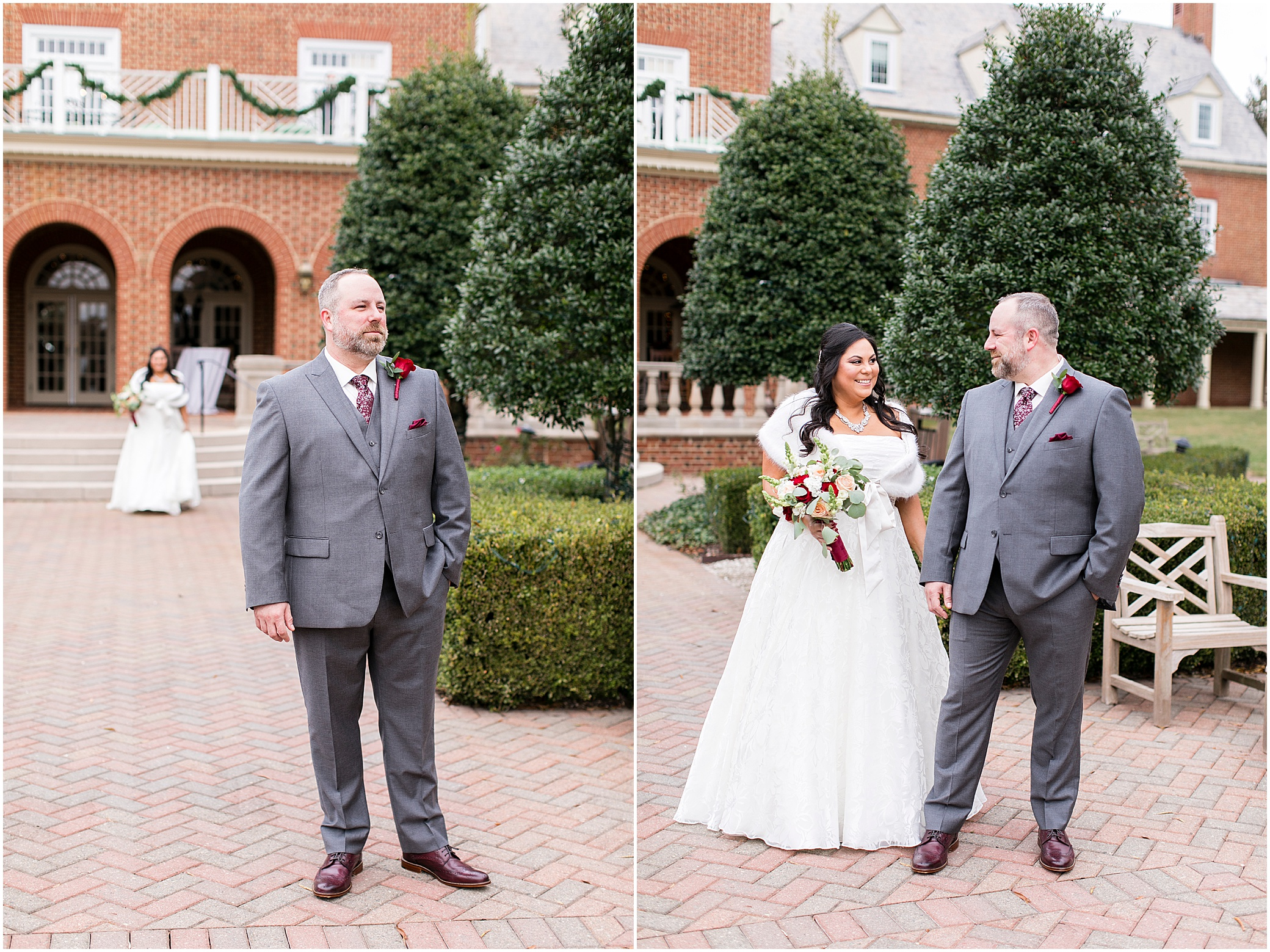 founders inn holiday wedding, Christmas wedding