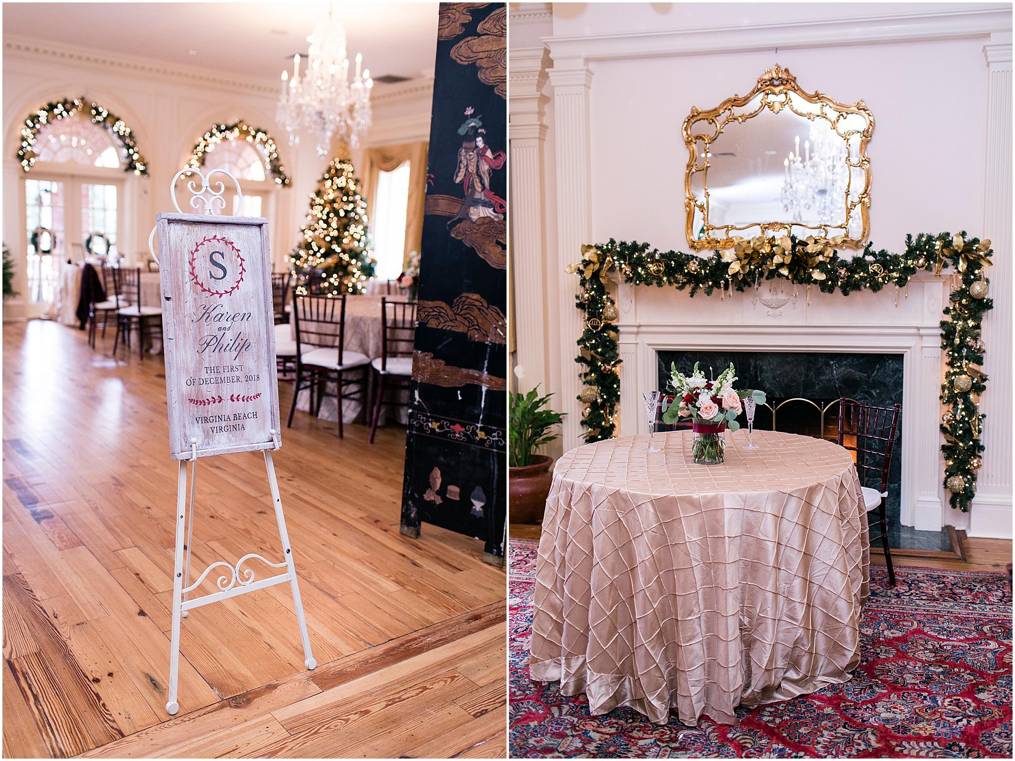 founders inn holiday wedding, Christmas wedding,